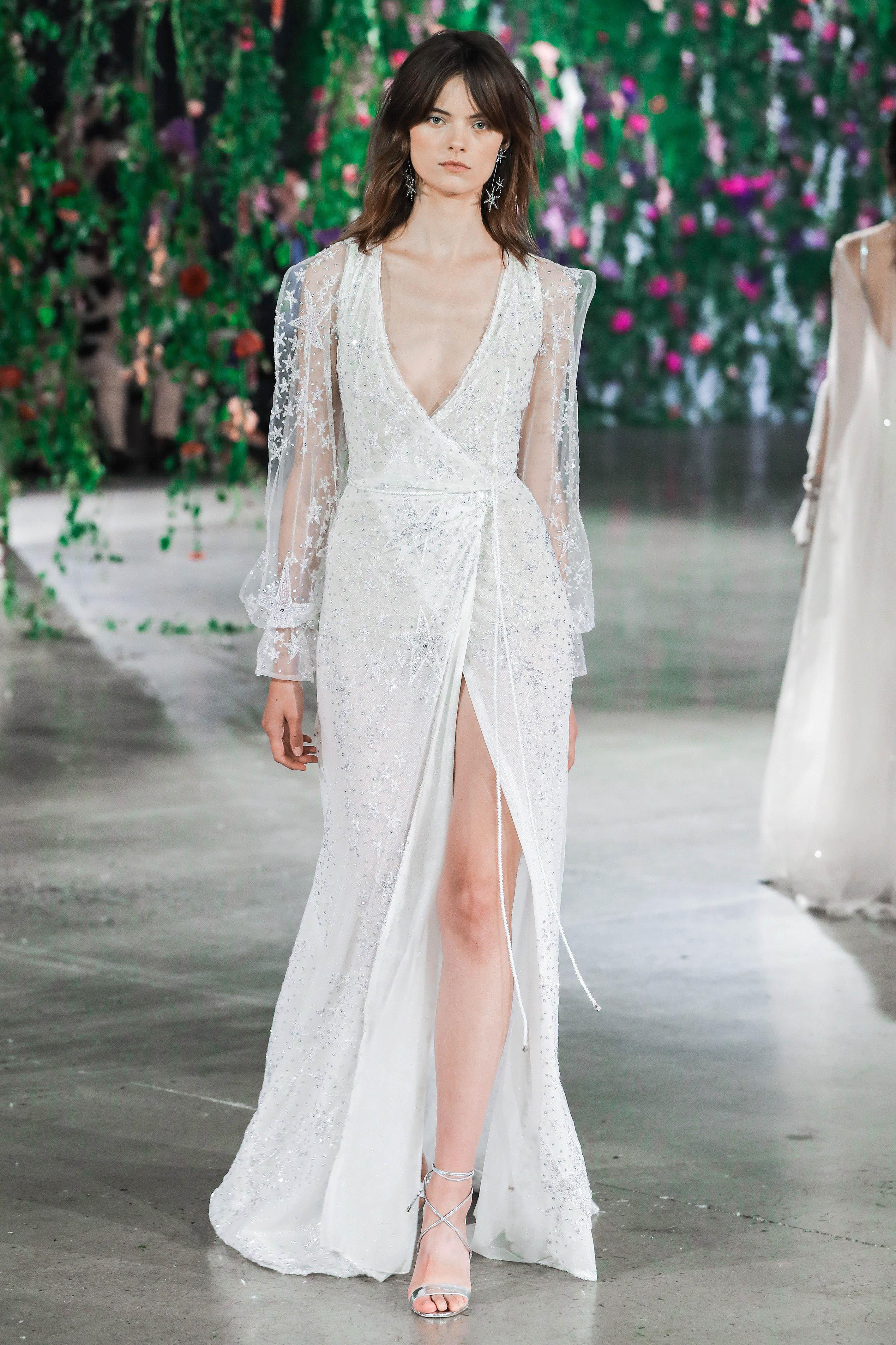 Galia Lahav Long Sleeves V-Neck Wedding Dress Fall 2018