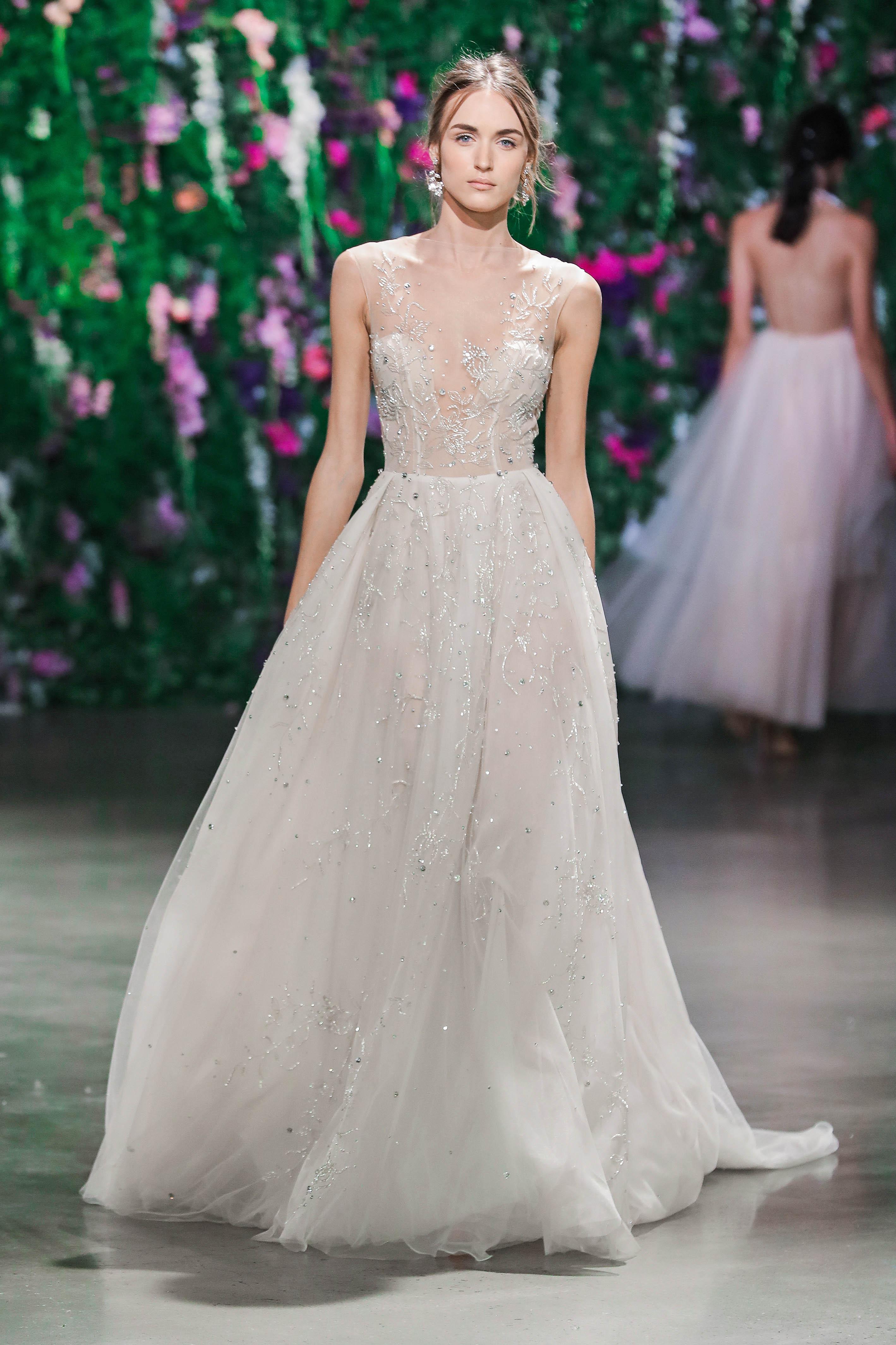 Galia Lahav Illusion Wedding Dress Fall 2018