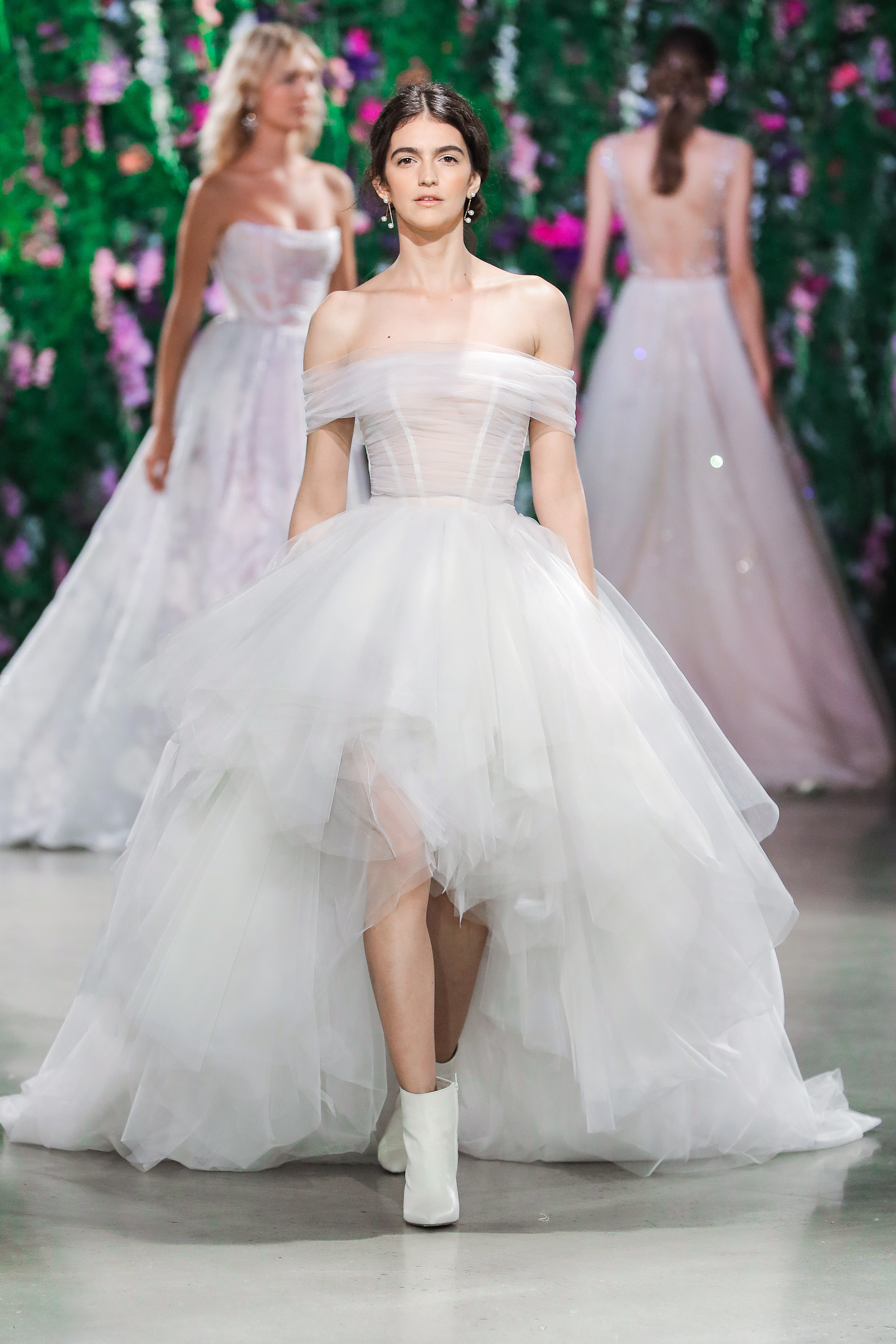 Galia Lahav Sheer Halter Wedding Dress Fall 2018
