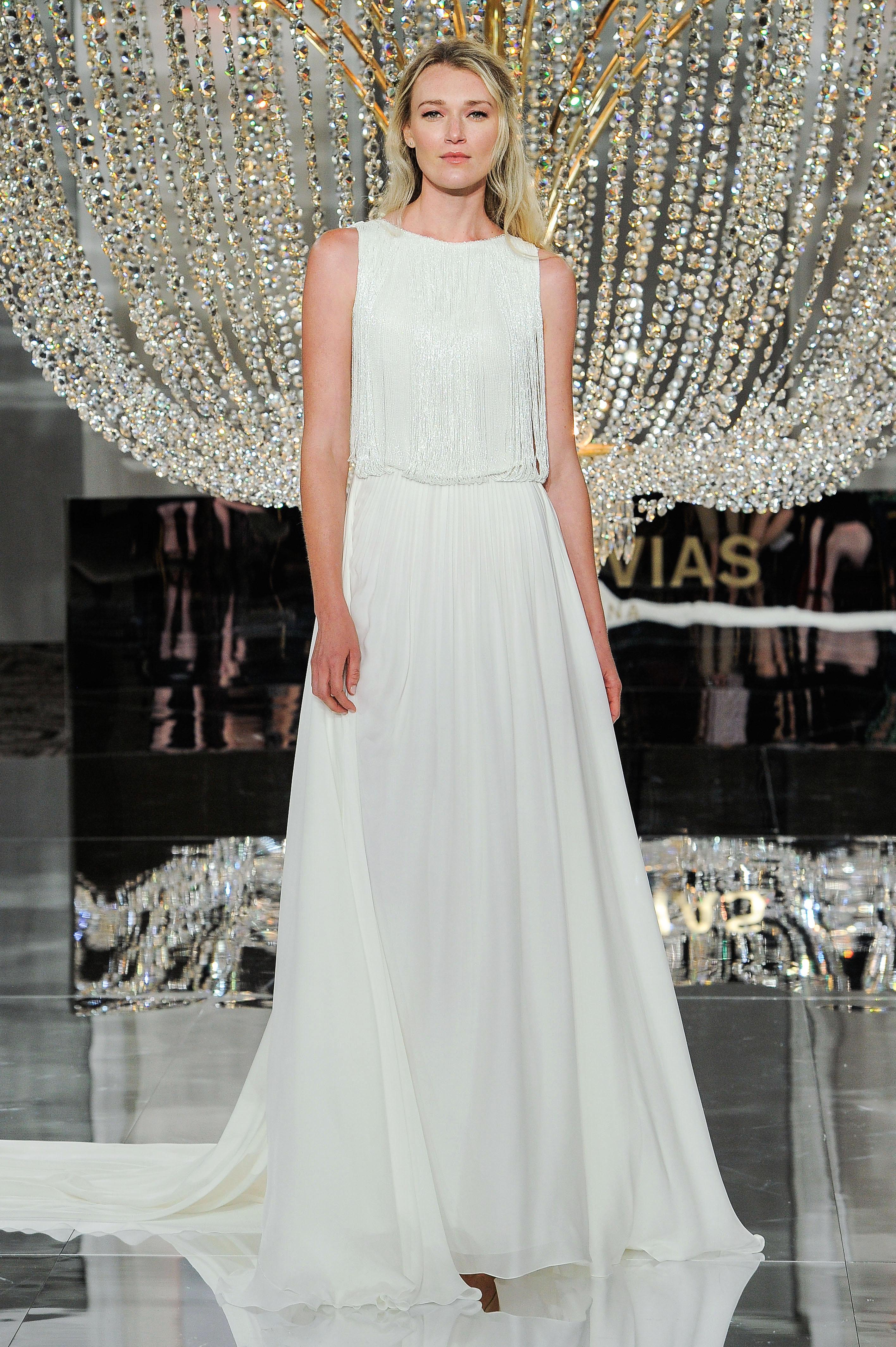 pronovias wedding dress fall 2018 sleeveless a-line loose