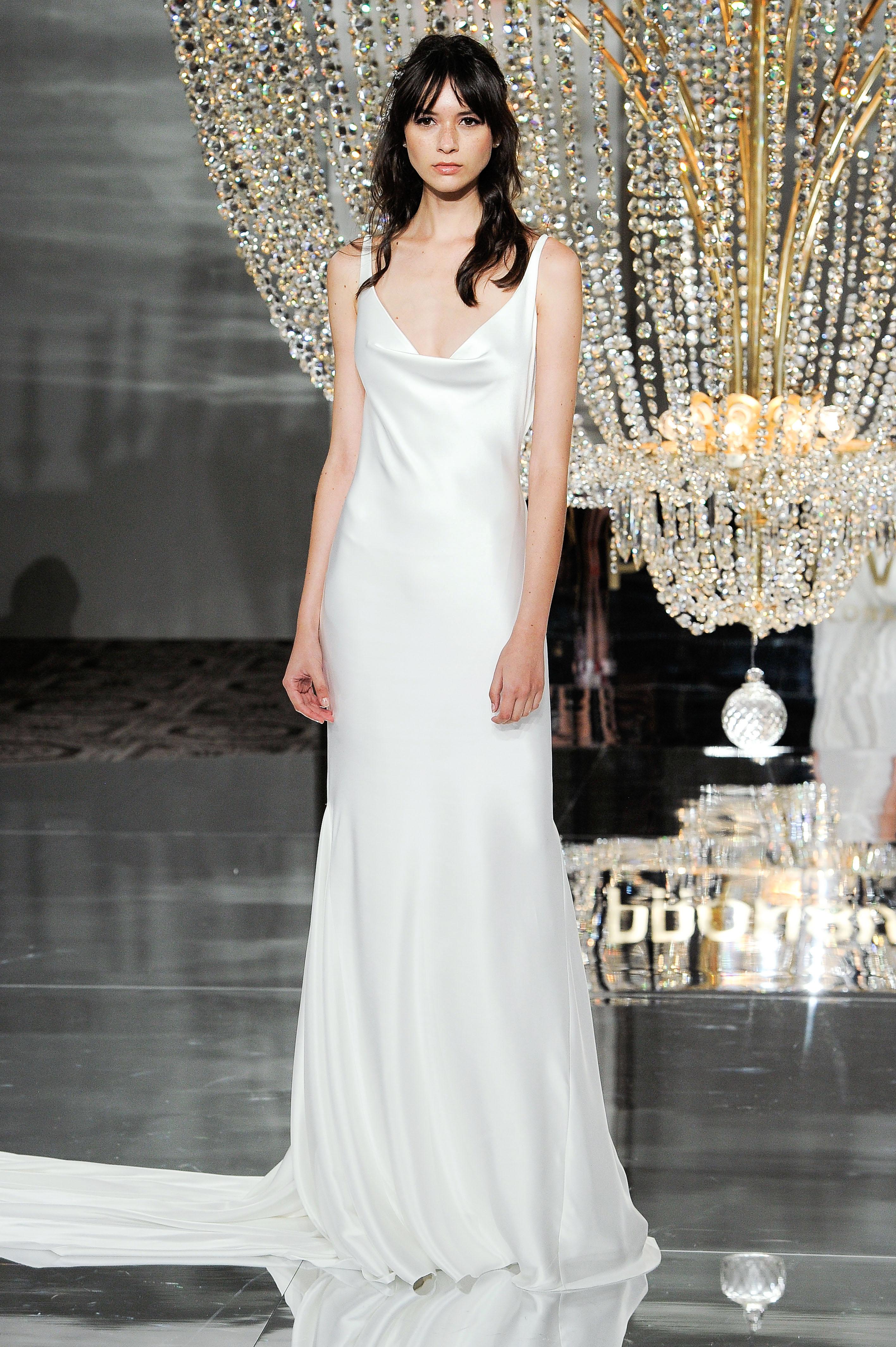 pronovias wedding dress fall 2018 sleeveless column