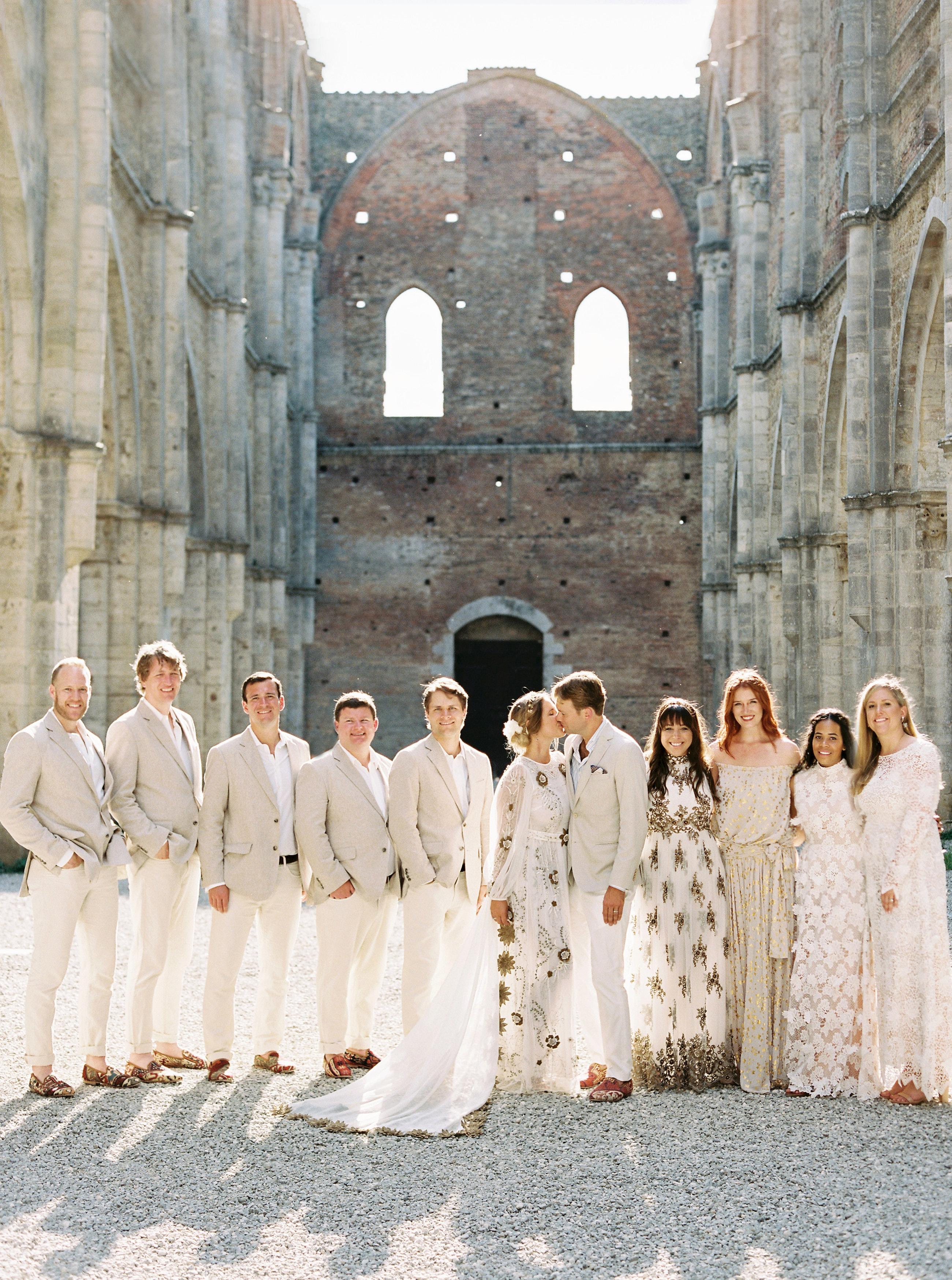 alexis zach wedding italy bridal party