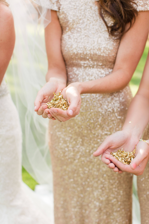 gold foil glitter