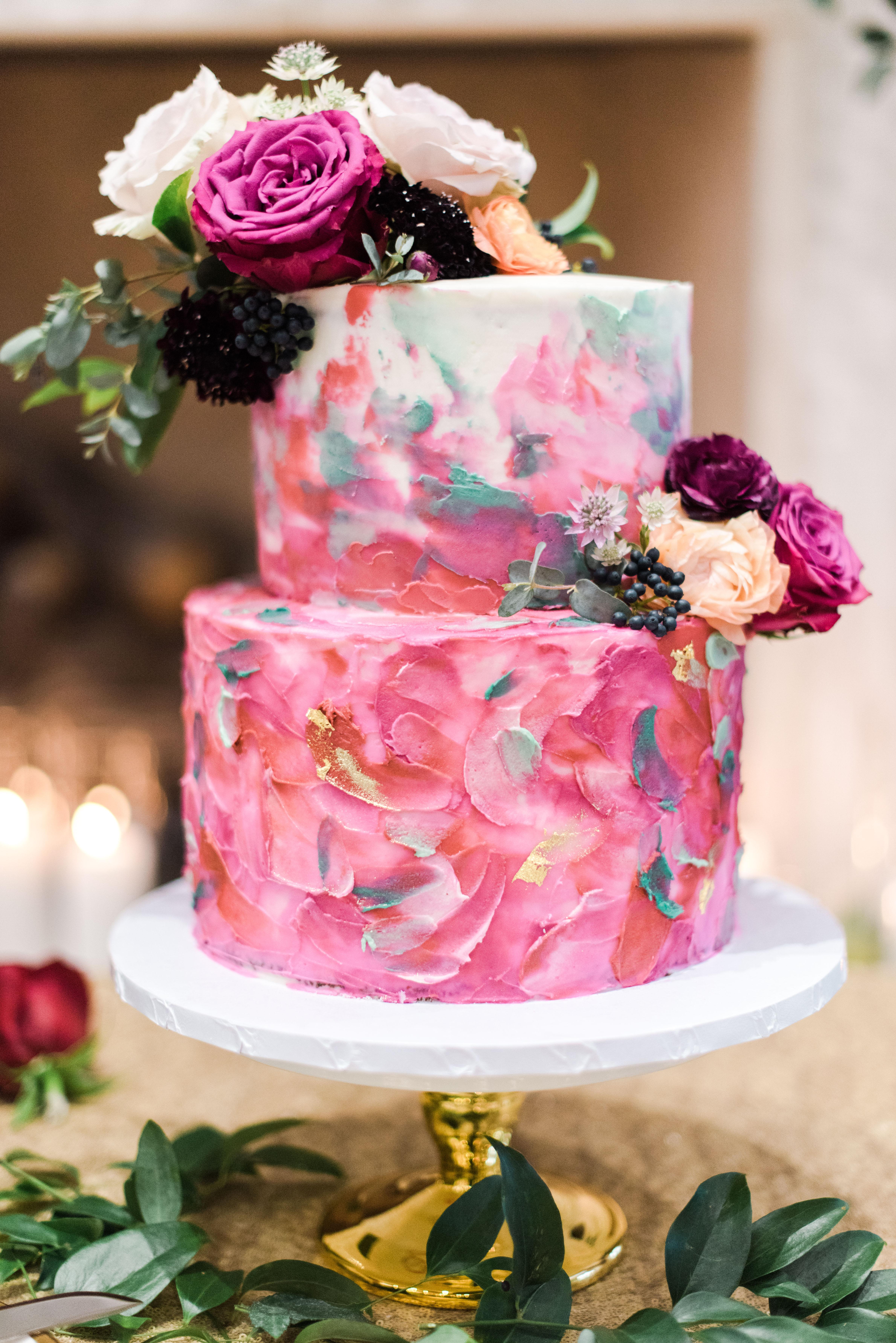 gold foil ideas cake