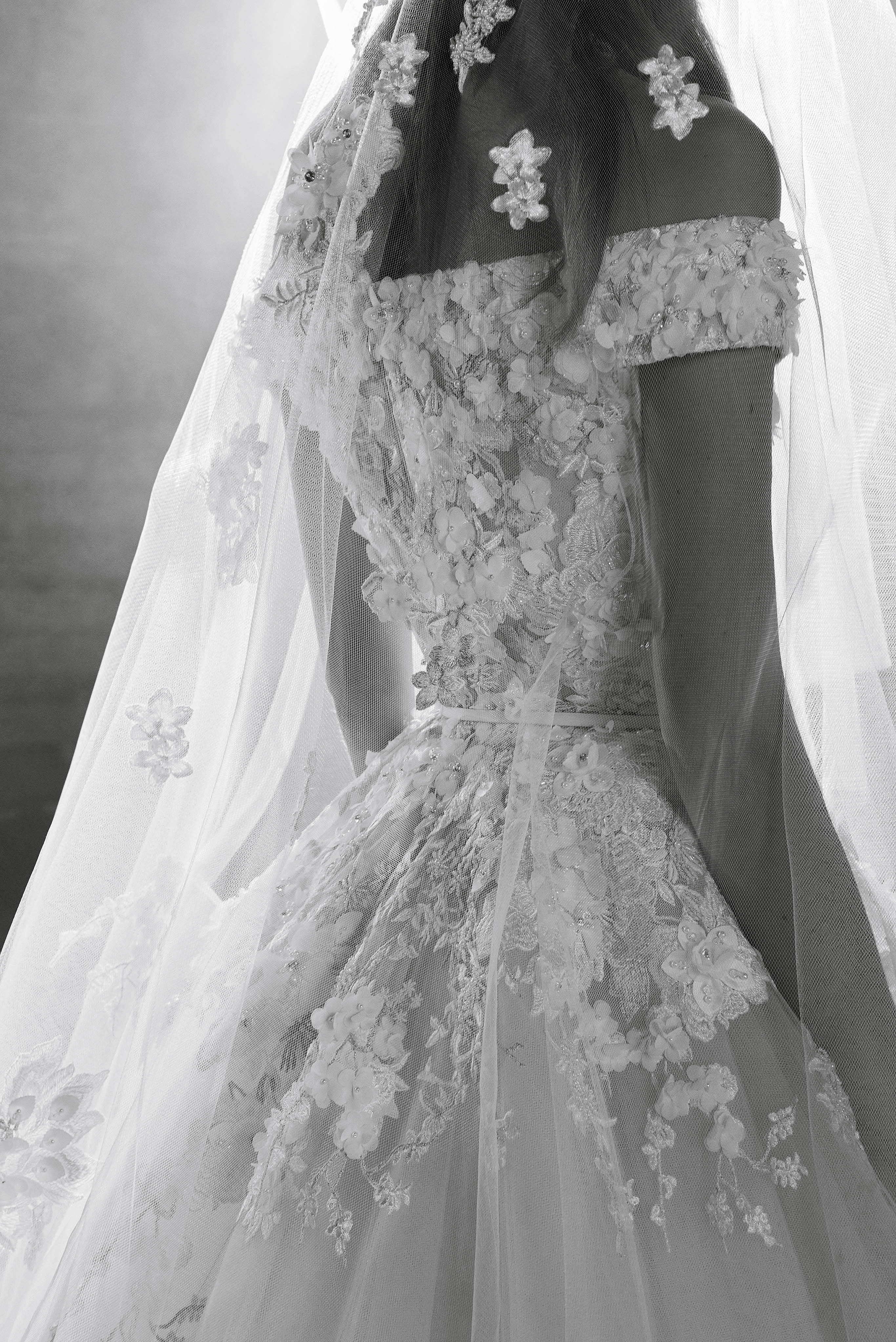 Elie Saab Off-the-Shoulder Wedding Dress Fall 2018