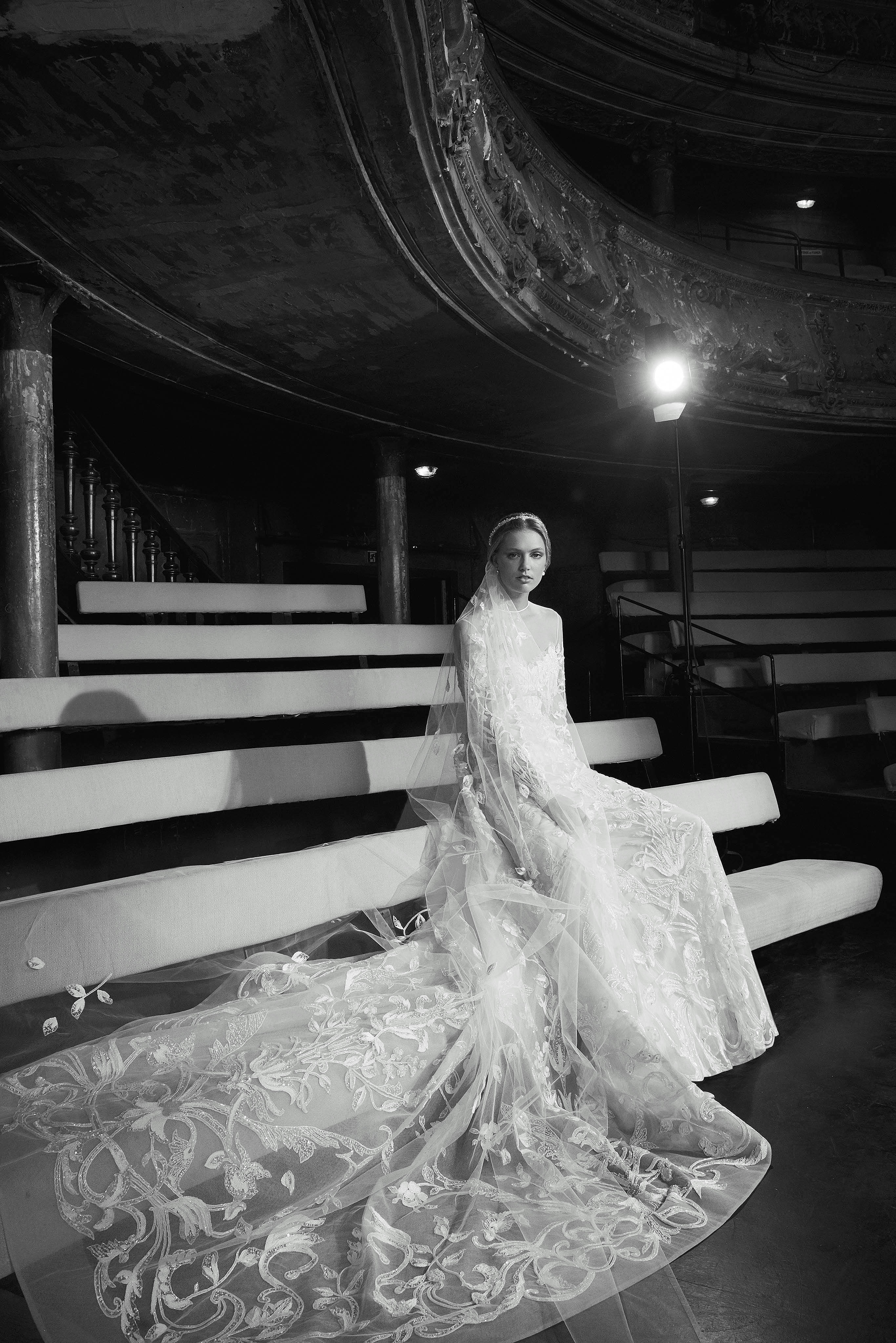 Elie Saab Sweetheart with Veil and Train Wedding Dress Fall 2018
