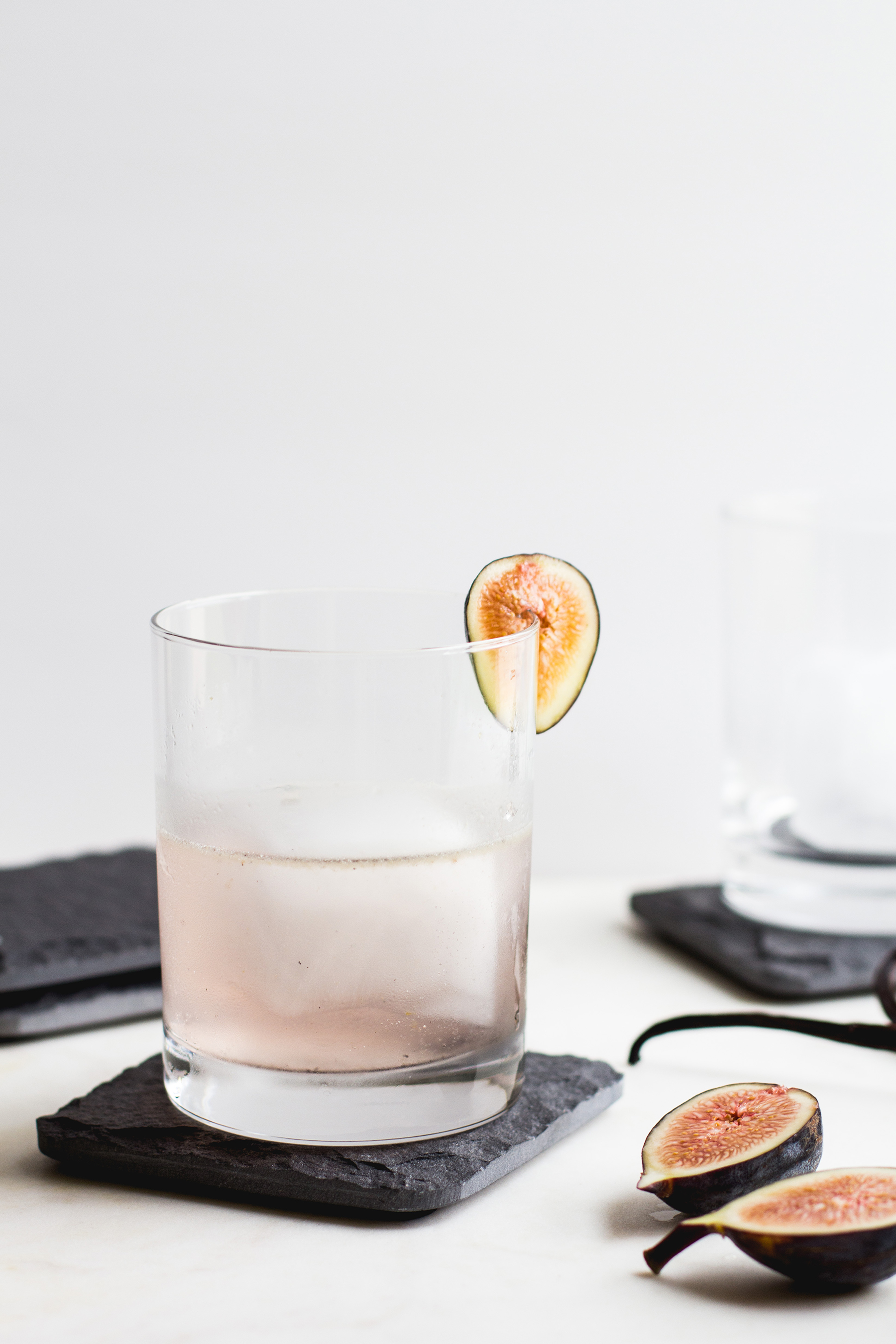 Fig and Vanilla Bean Cocktail