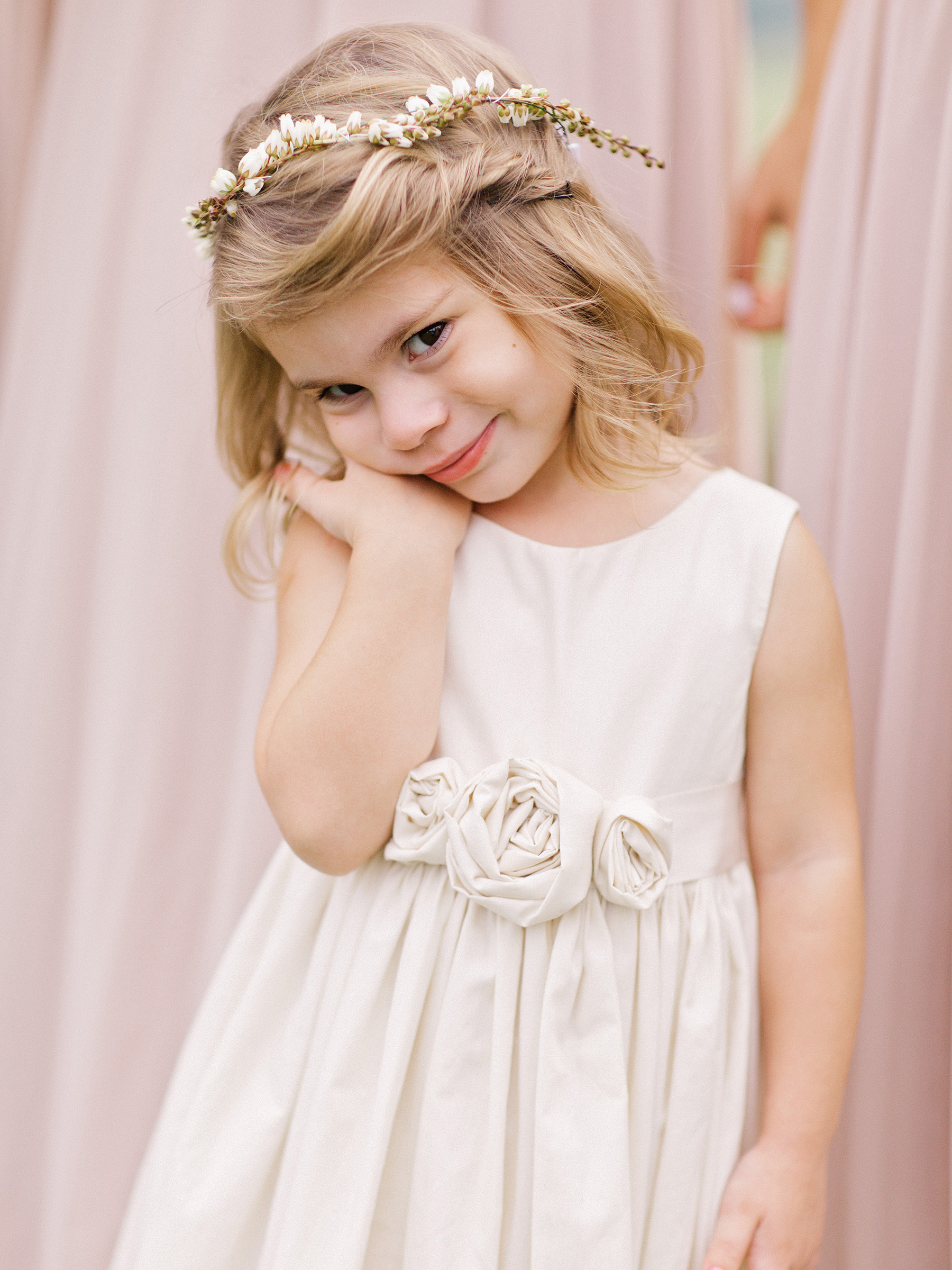Flower Girl Twist Hairstyle with Babys Breath