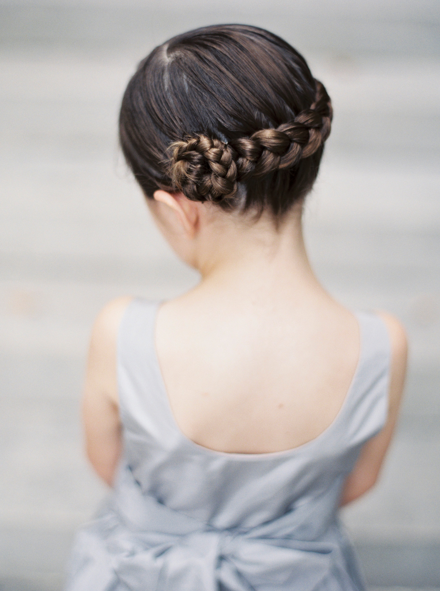 Flower Girl Hairstyle Braid Flower