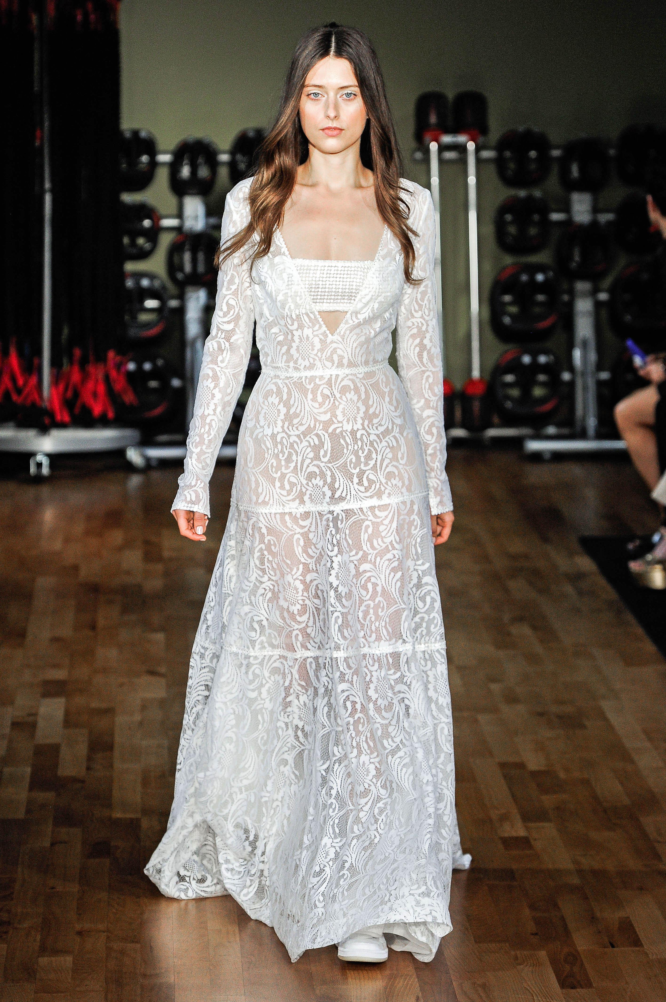 Rivini by Rita Vinieris V-Neck with Halter Wedding Dress Fall 2018