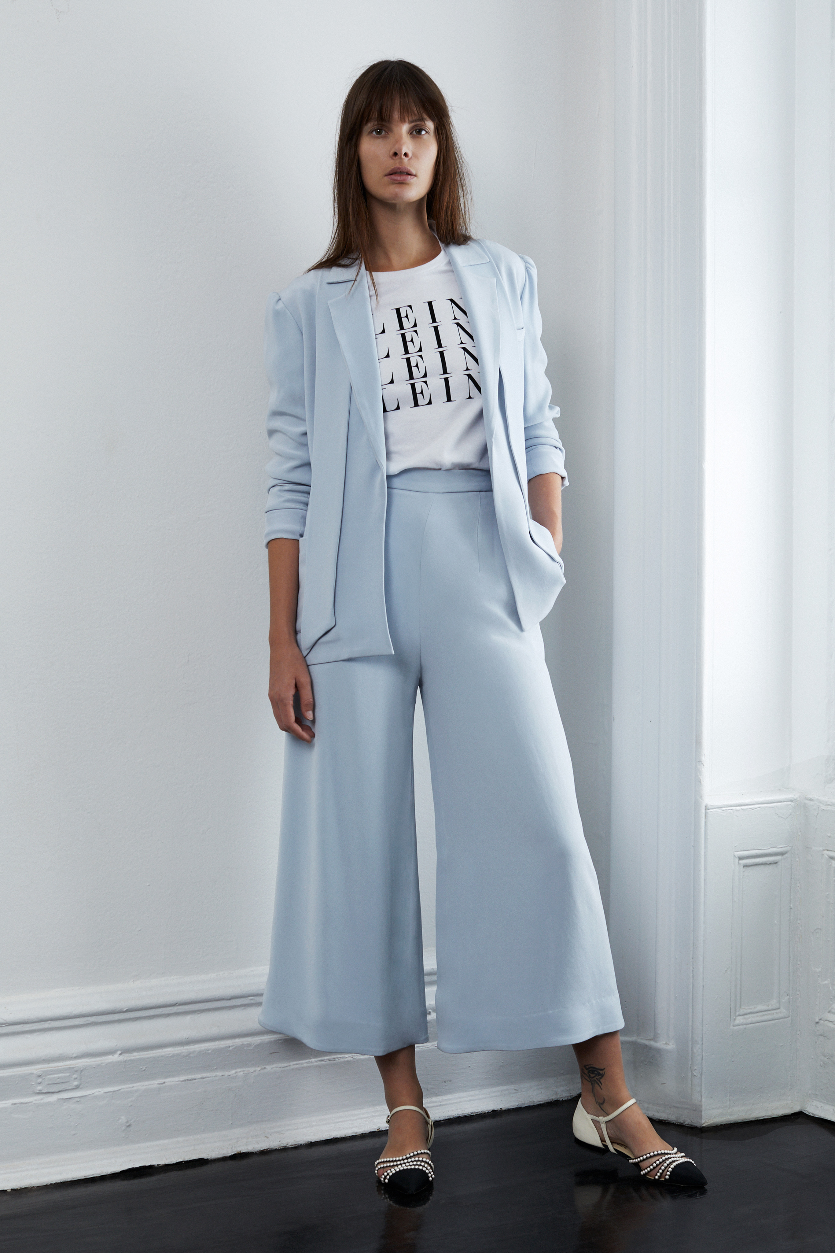 lein fall 2018 wedding dress blue two piece pantsuit trousers