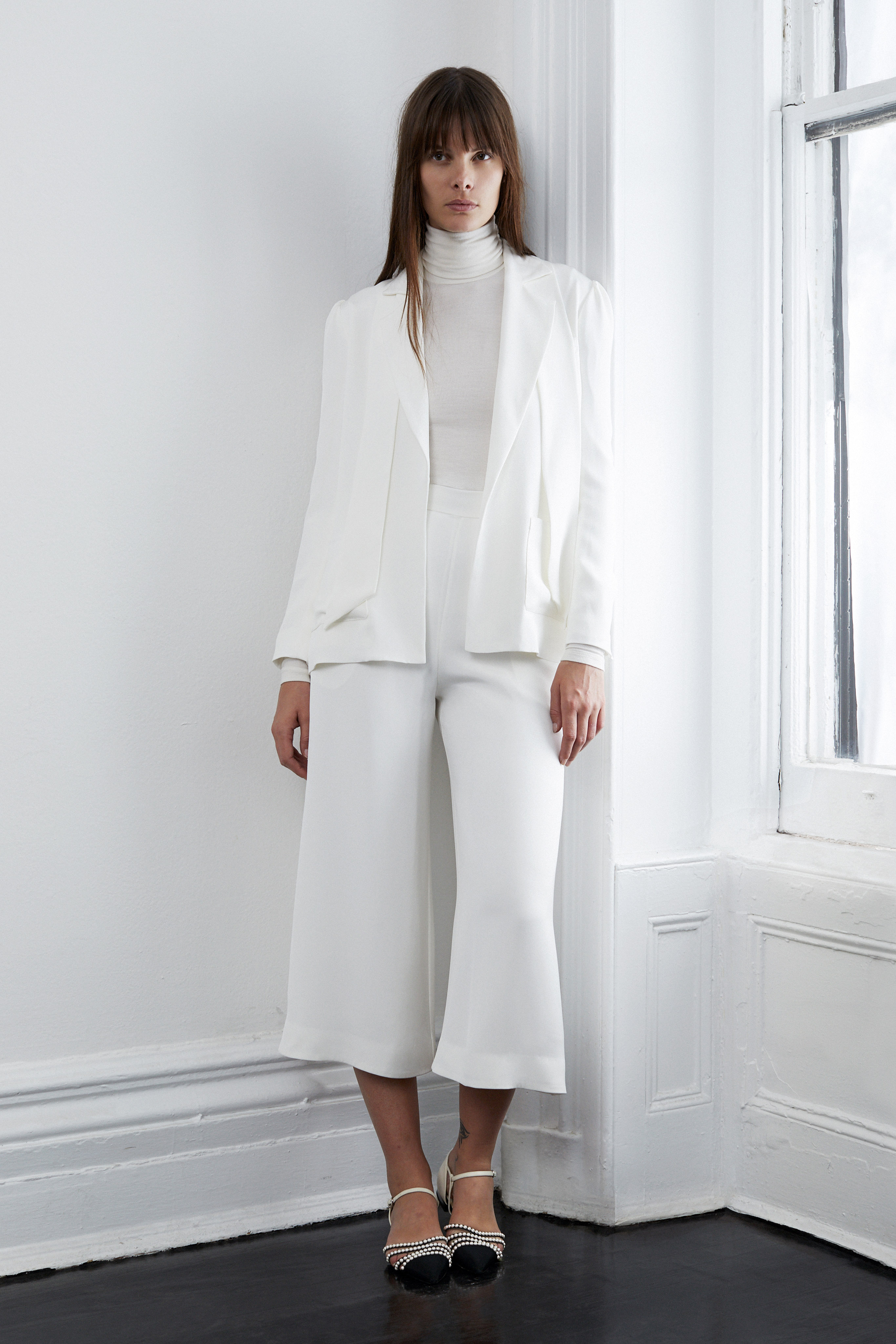 lein fall 2018 wedding dress separates jacket gaucho pants