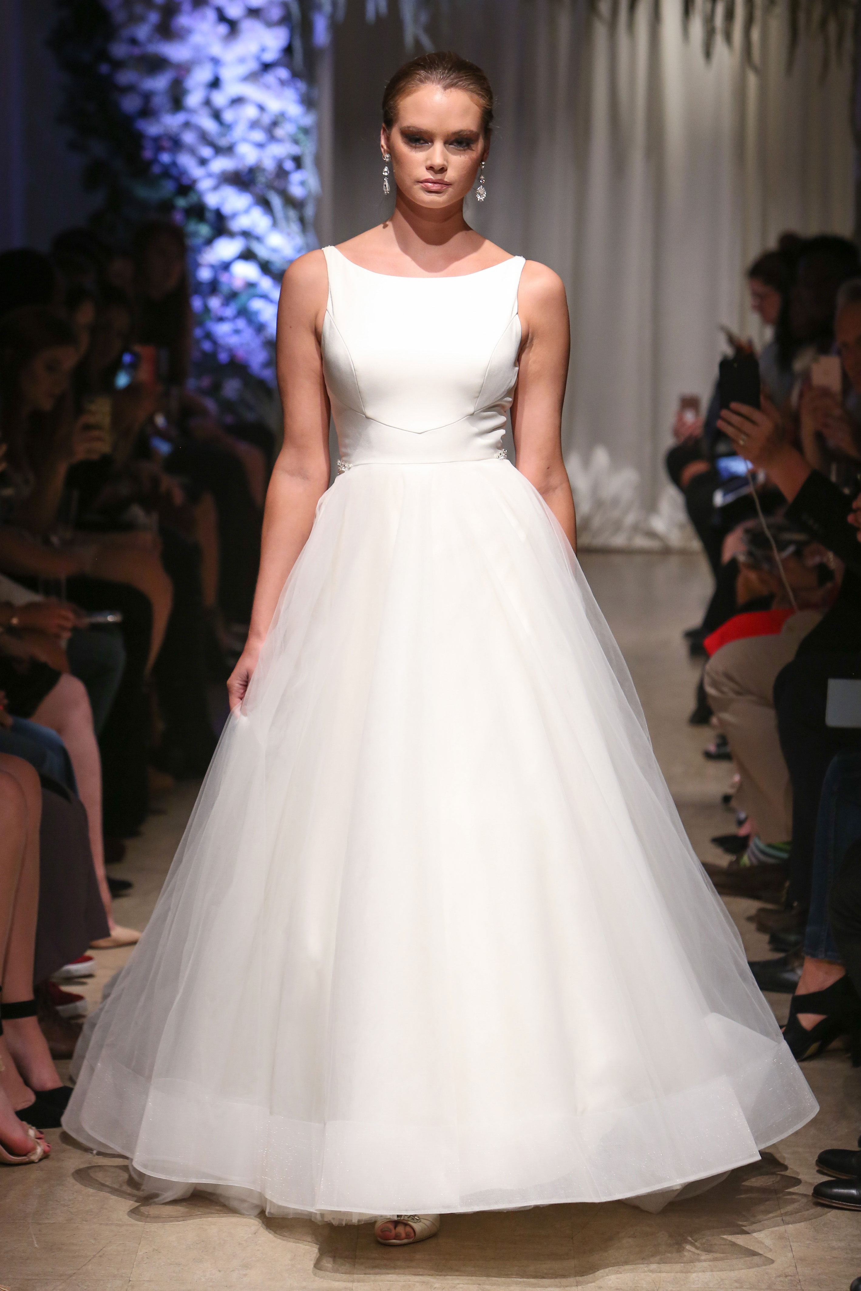 matthew christopher 2018 boat neck wedding dress