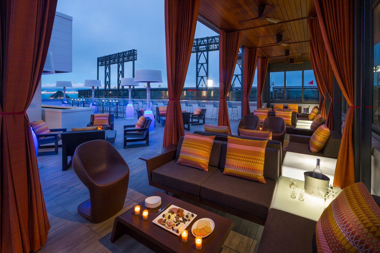 outdoor hotel lounge