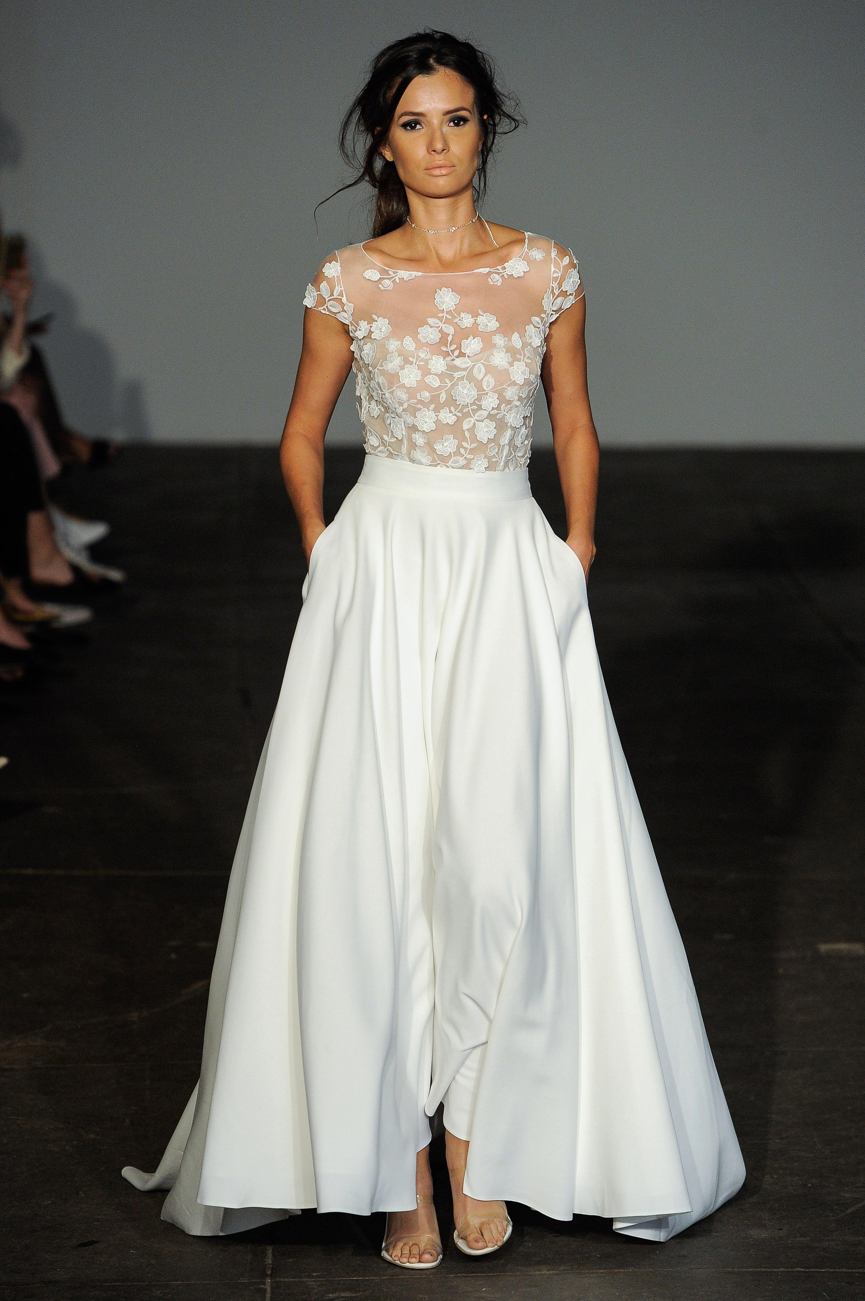rime arodaky fall 2018 lace top a line wedding dress