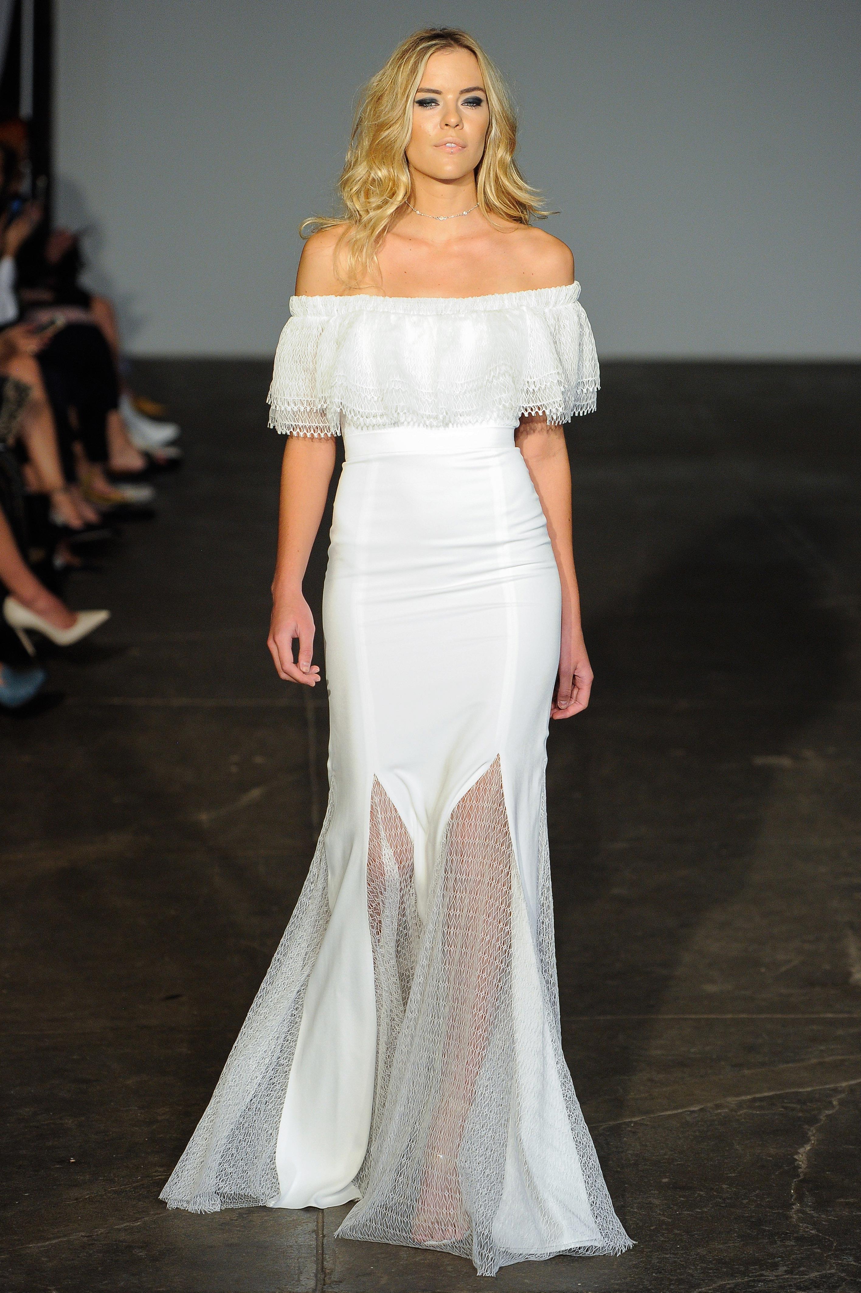 rime arodaky fall 2018 off the shoulder wedding dress