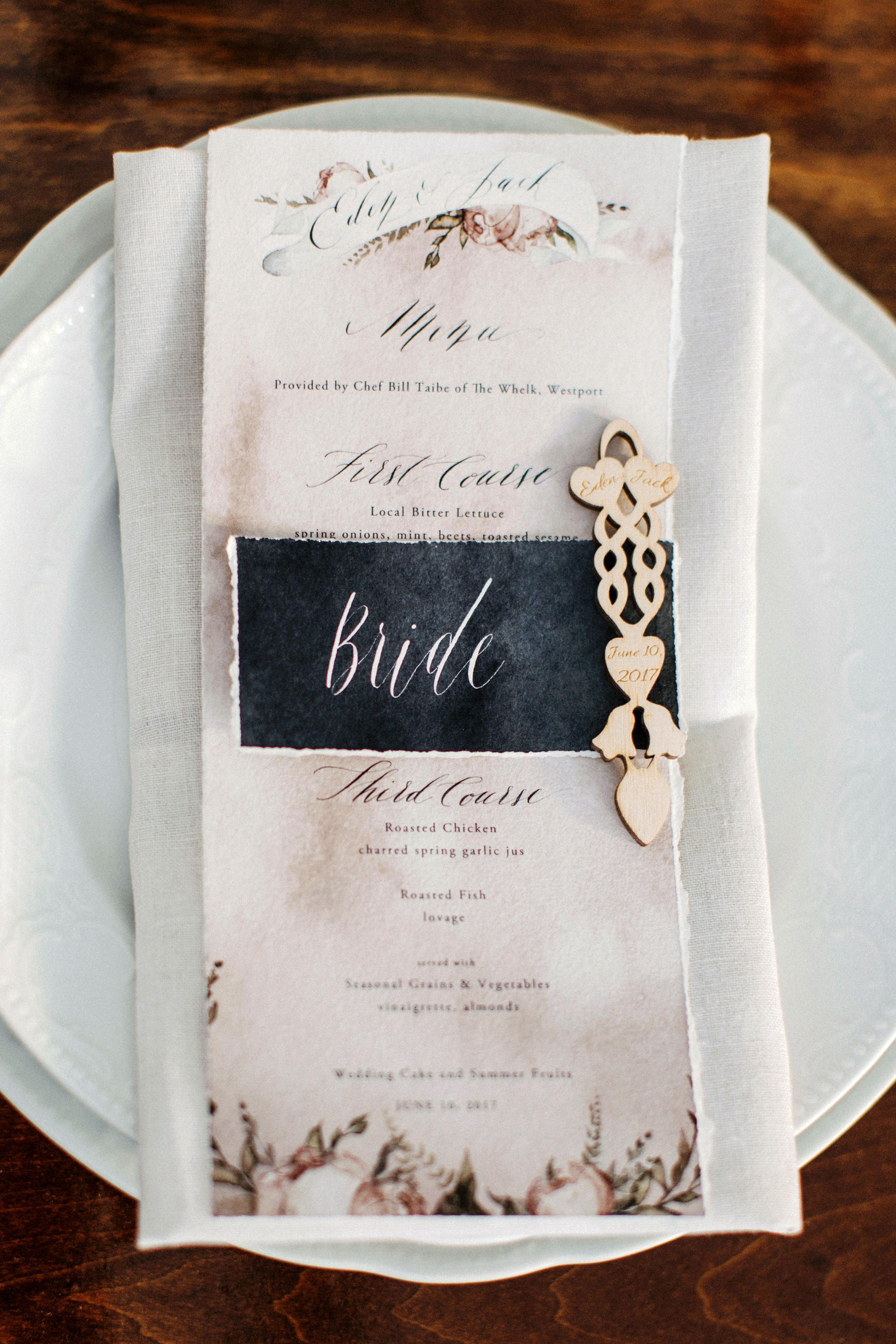 eden jack wedding place setting