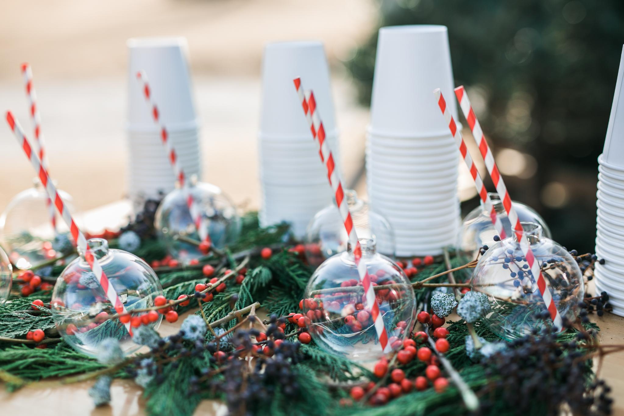 Christmas decoration drinks