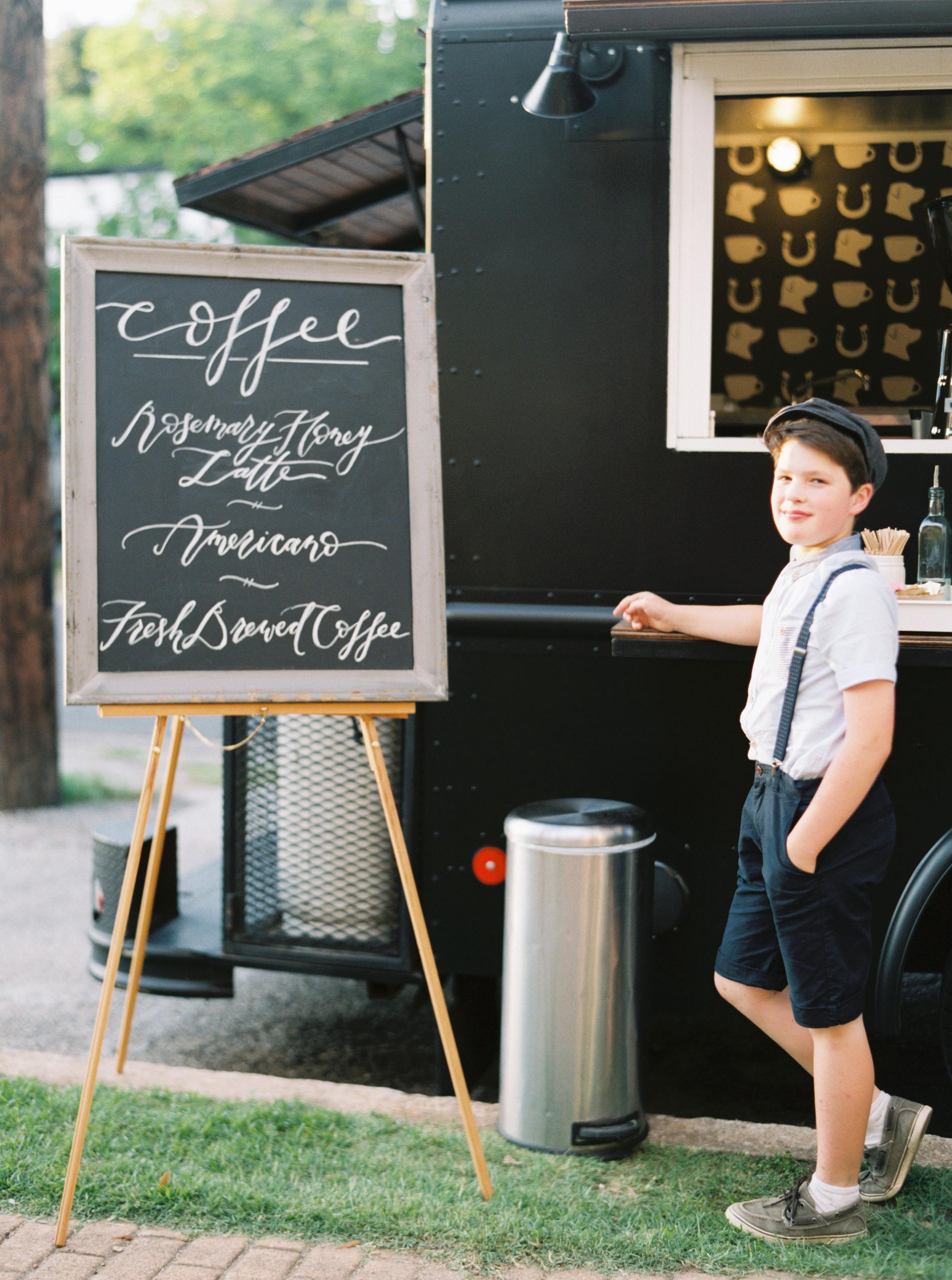 kid at drink station