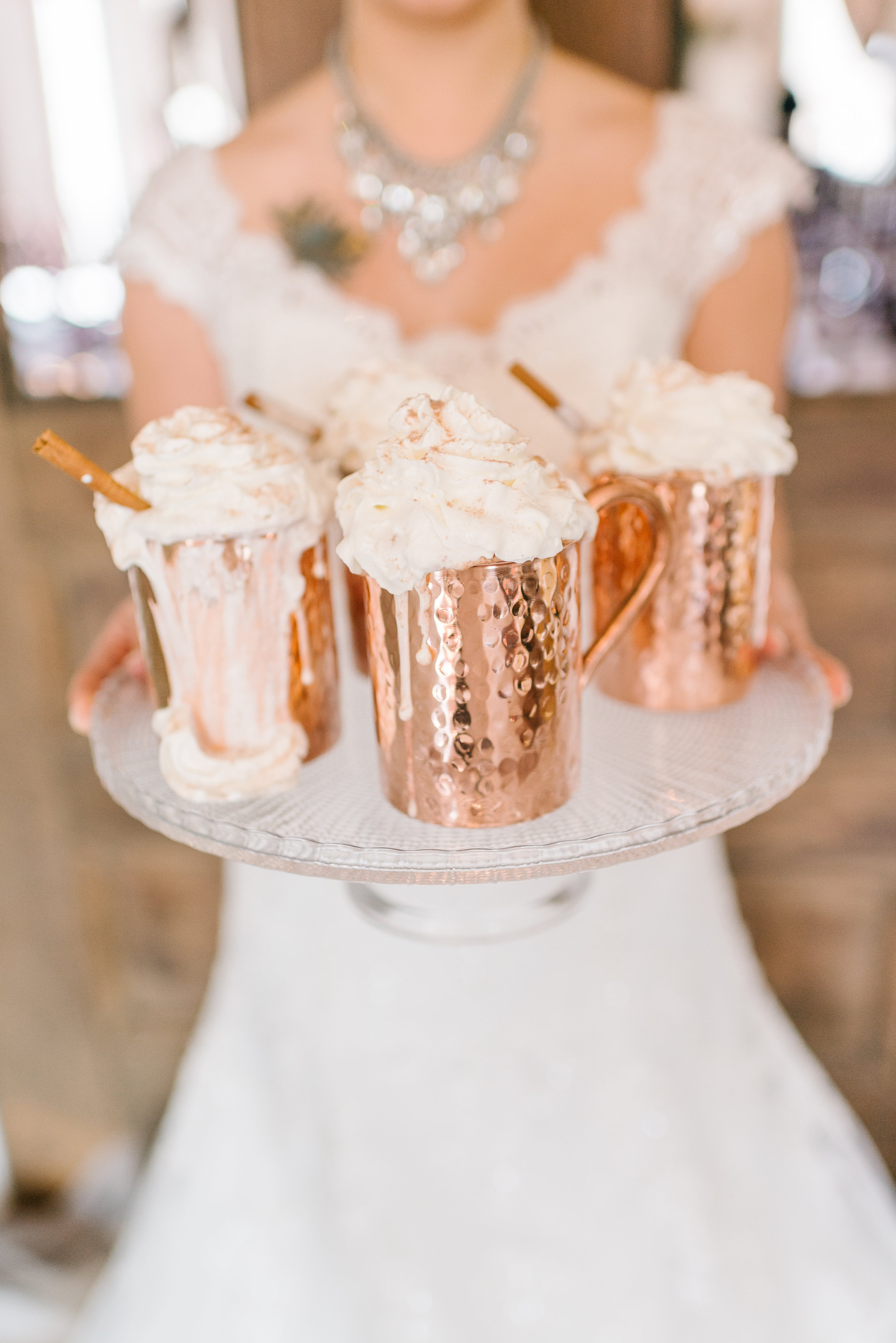 Hot Chocolate in Copper Mugs, Hot Drink Stations