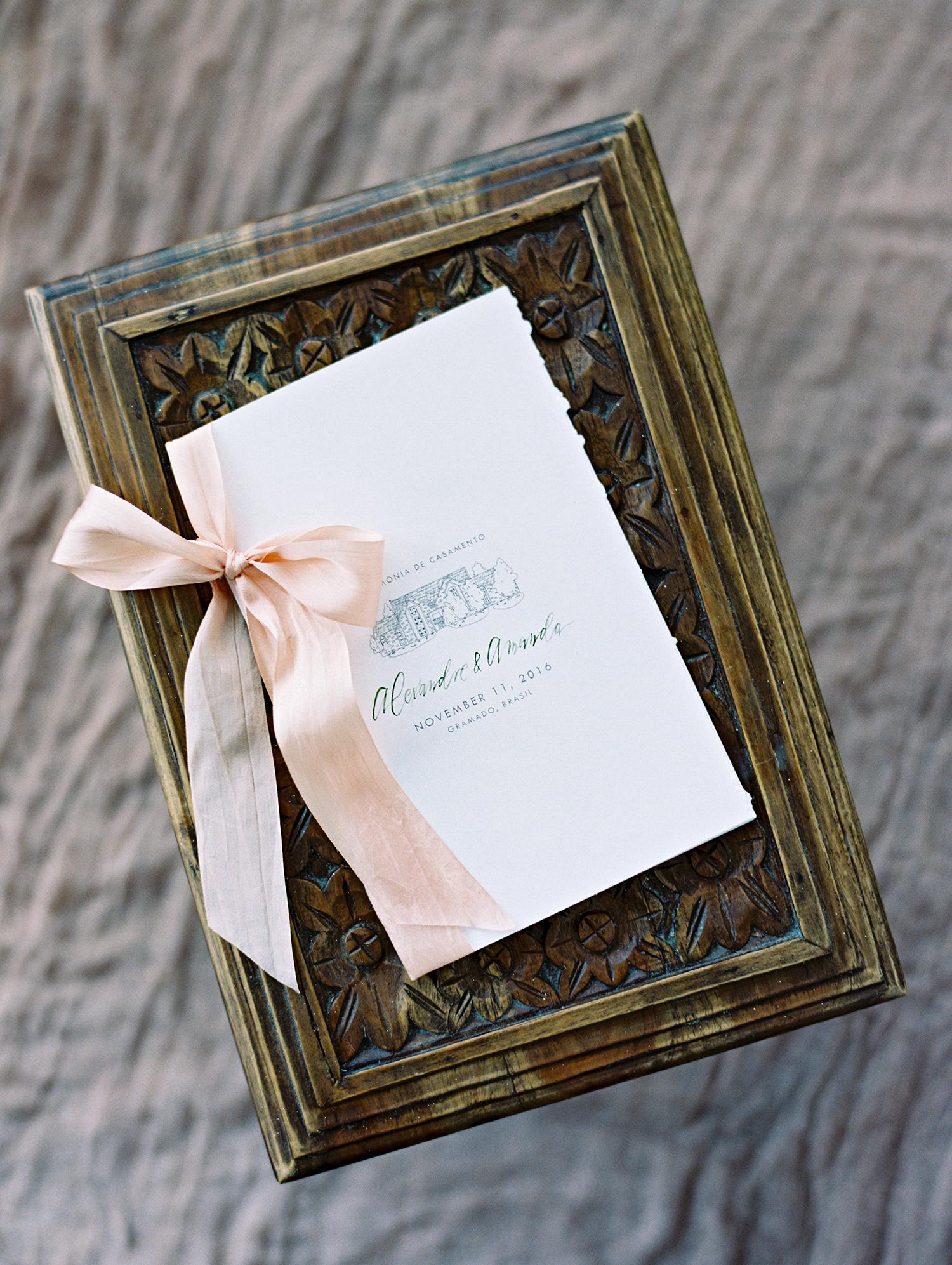 amanda alex wedding programs