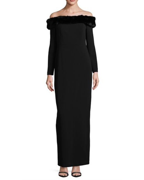 winter mother of the bride mob dresses calvin klein