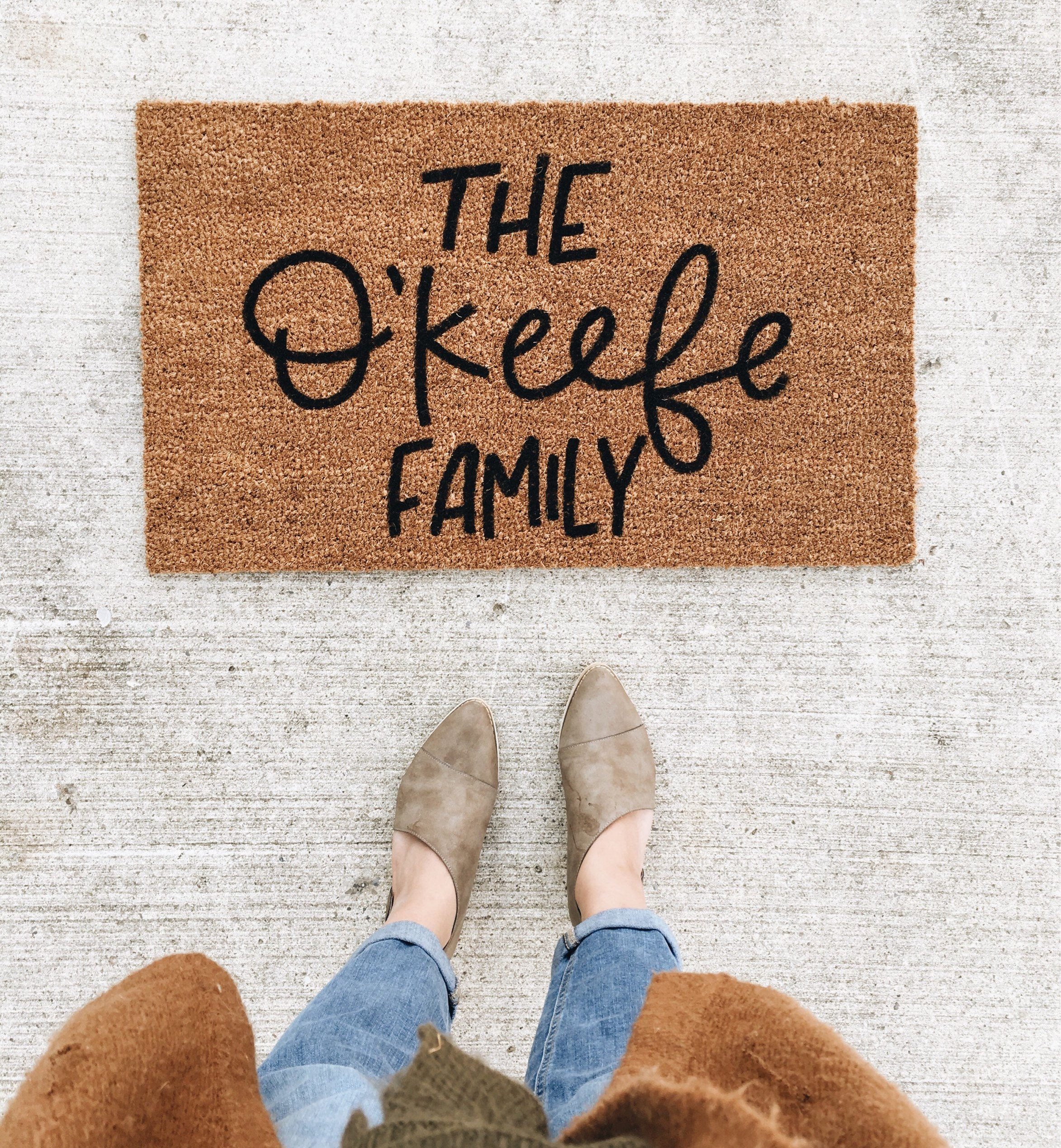 first married holiday gift guide etsy doormat