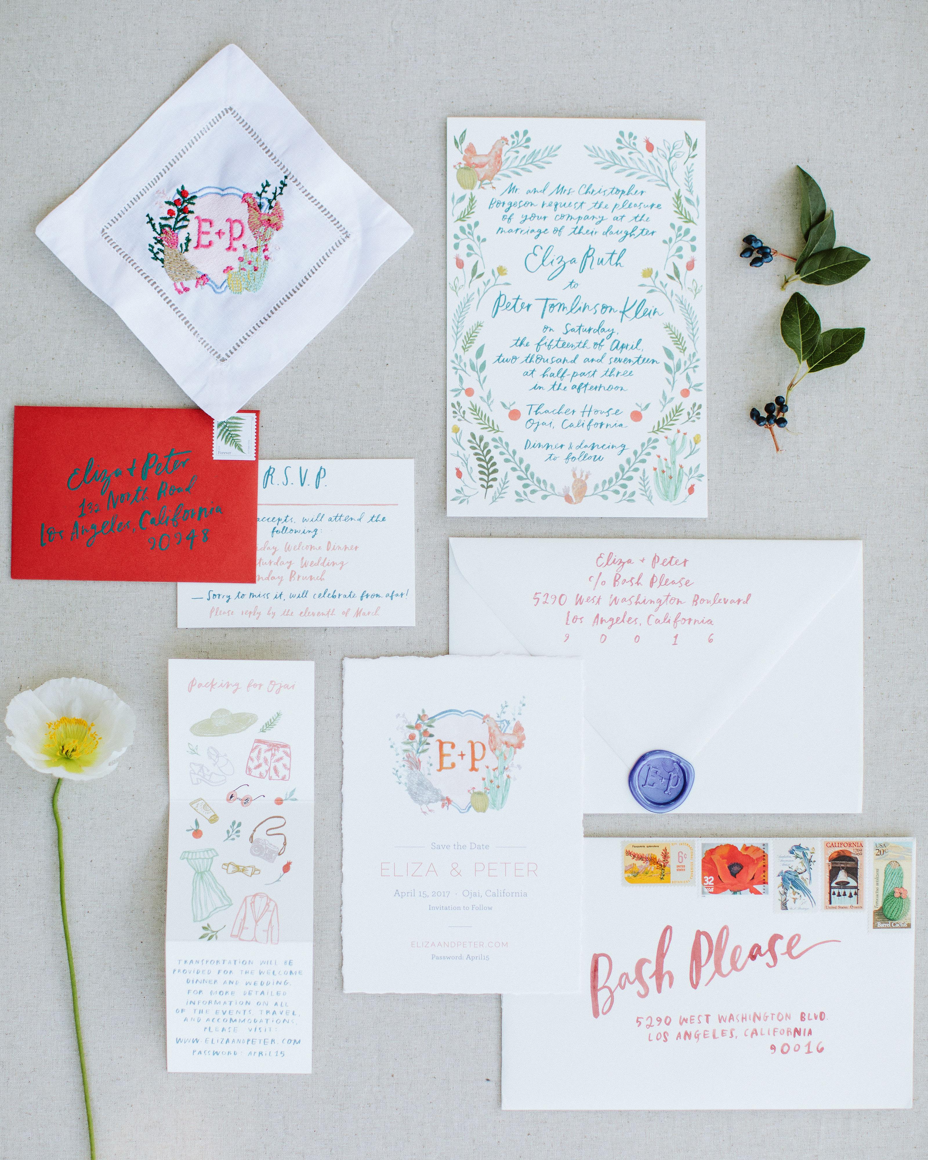 eliza peter wedding stationery