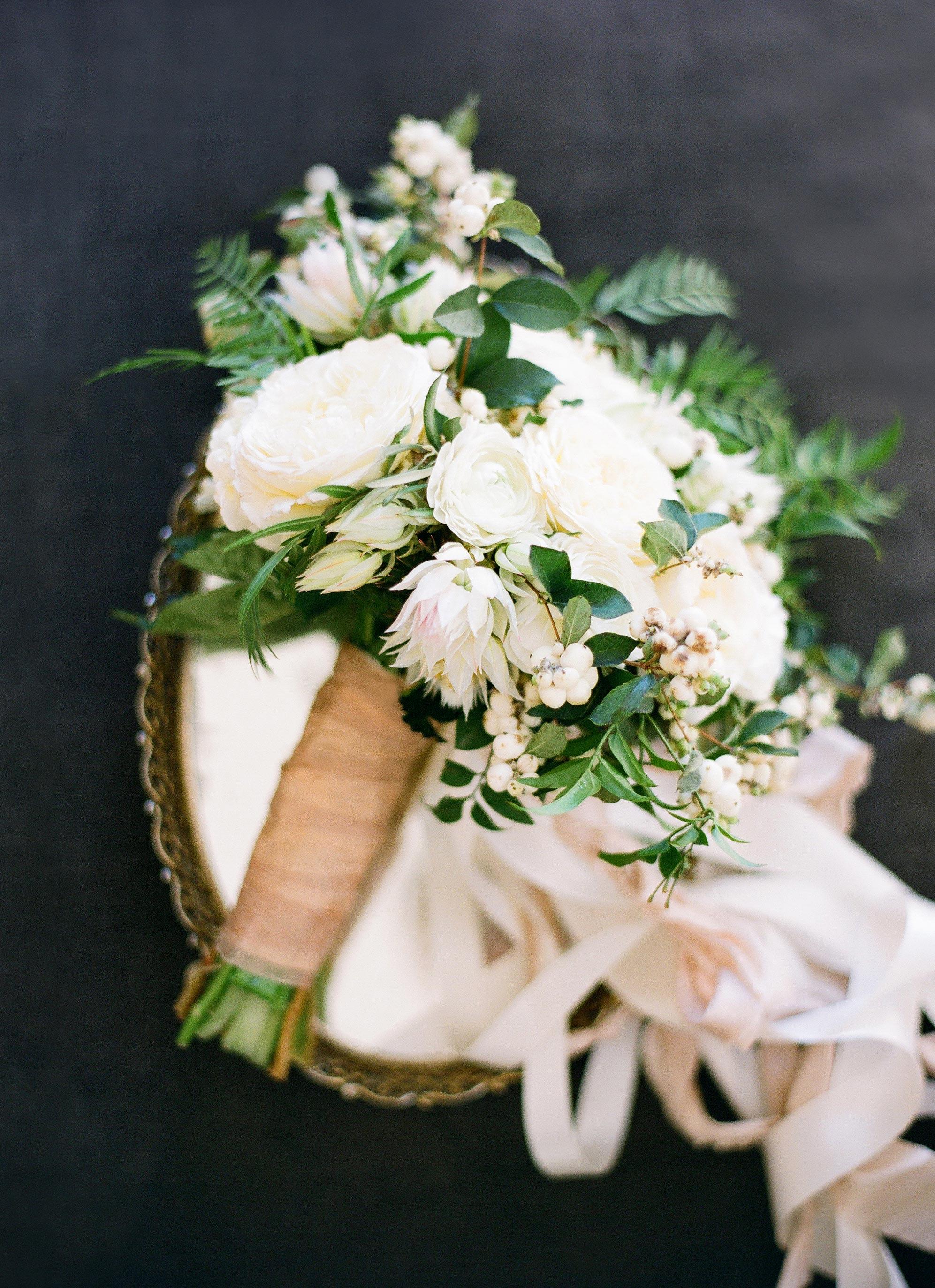 wedding bouquet with berries