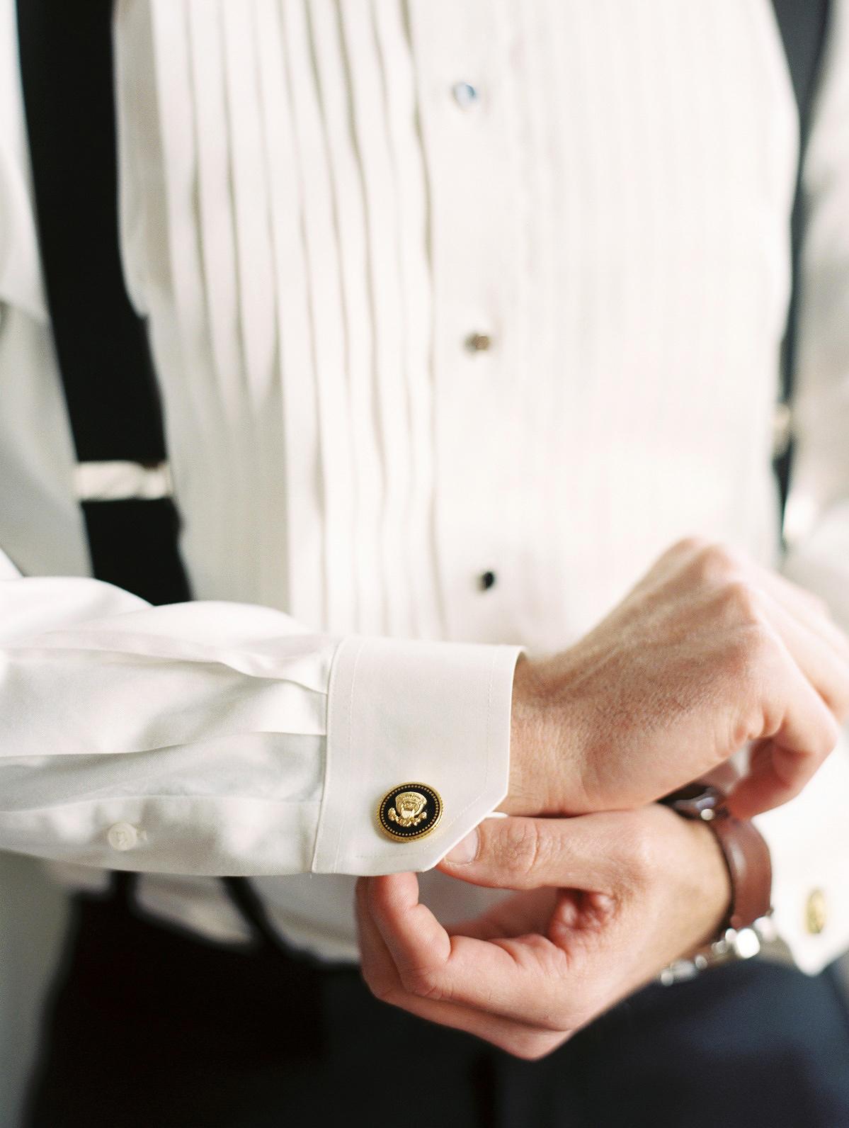 celina rob wedding virginia cufflinks