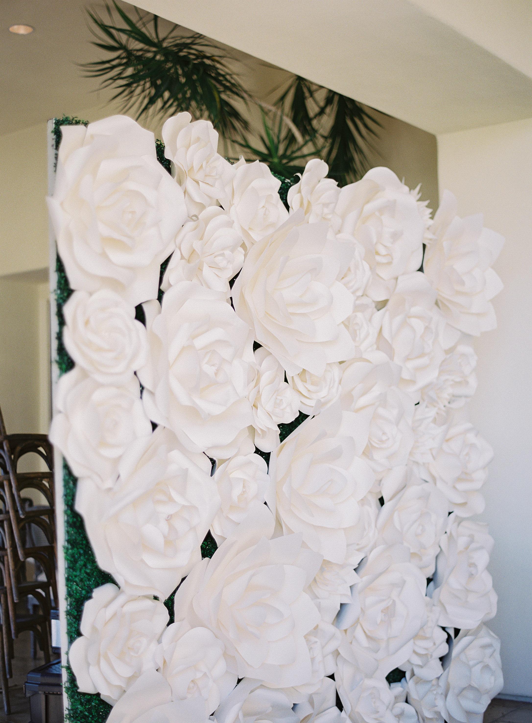 faux flower wall