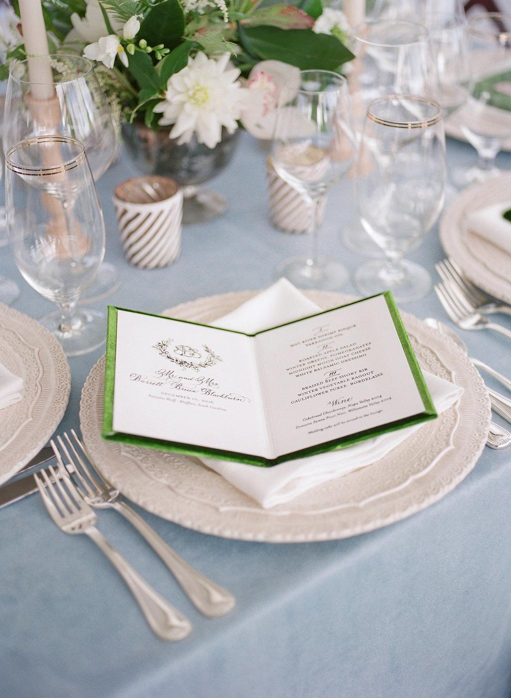 shelby barrett wedding menu
