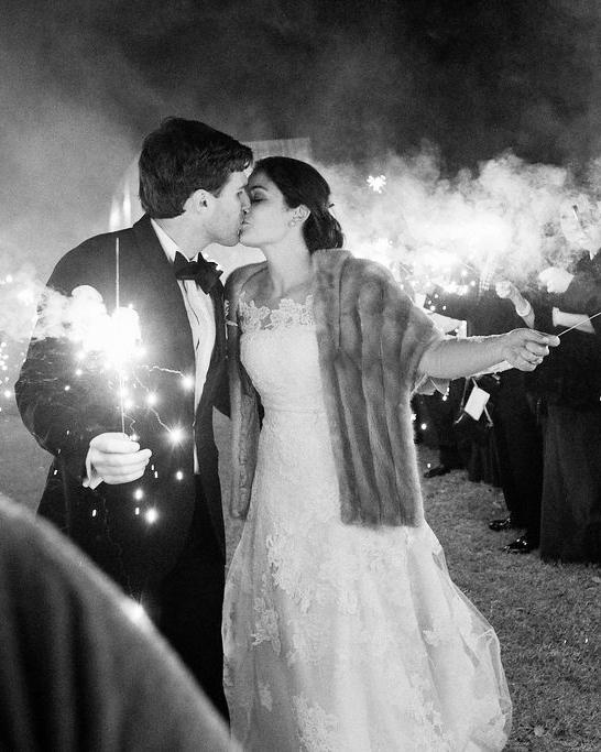 shelby barrett wedding sparklers