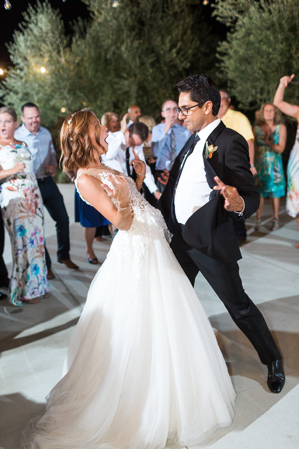 emily adhir wedding dancing couple
