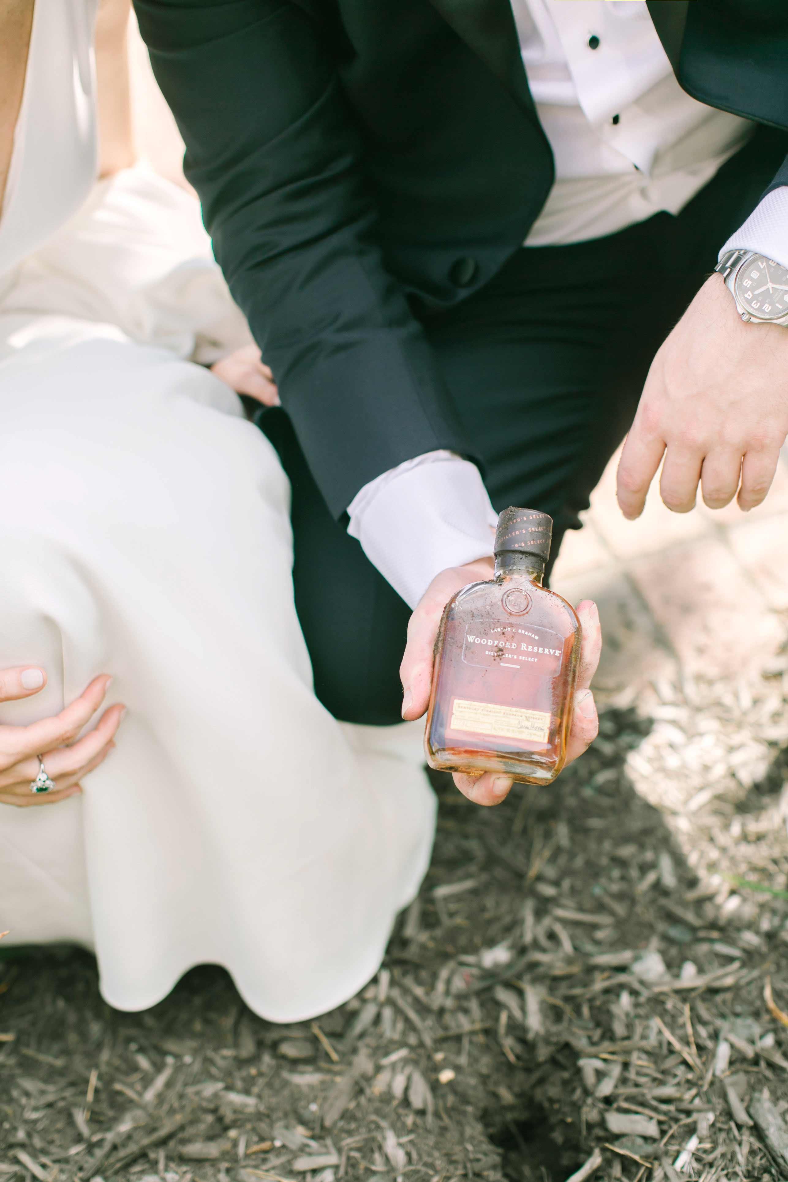 bride groom whiskey