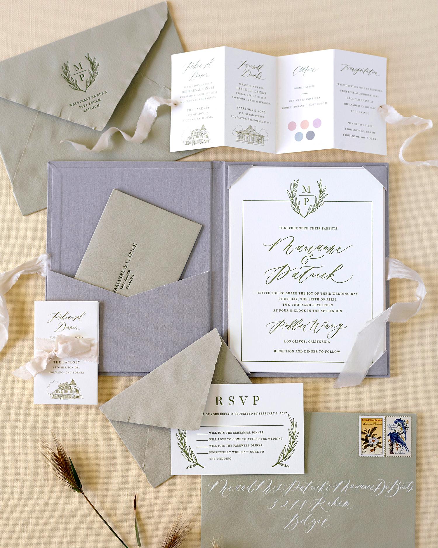 marianne patrick wedding stationery