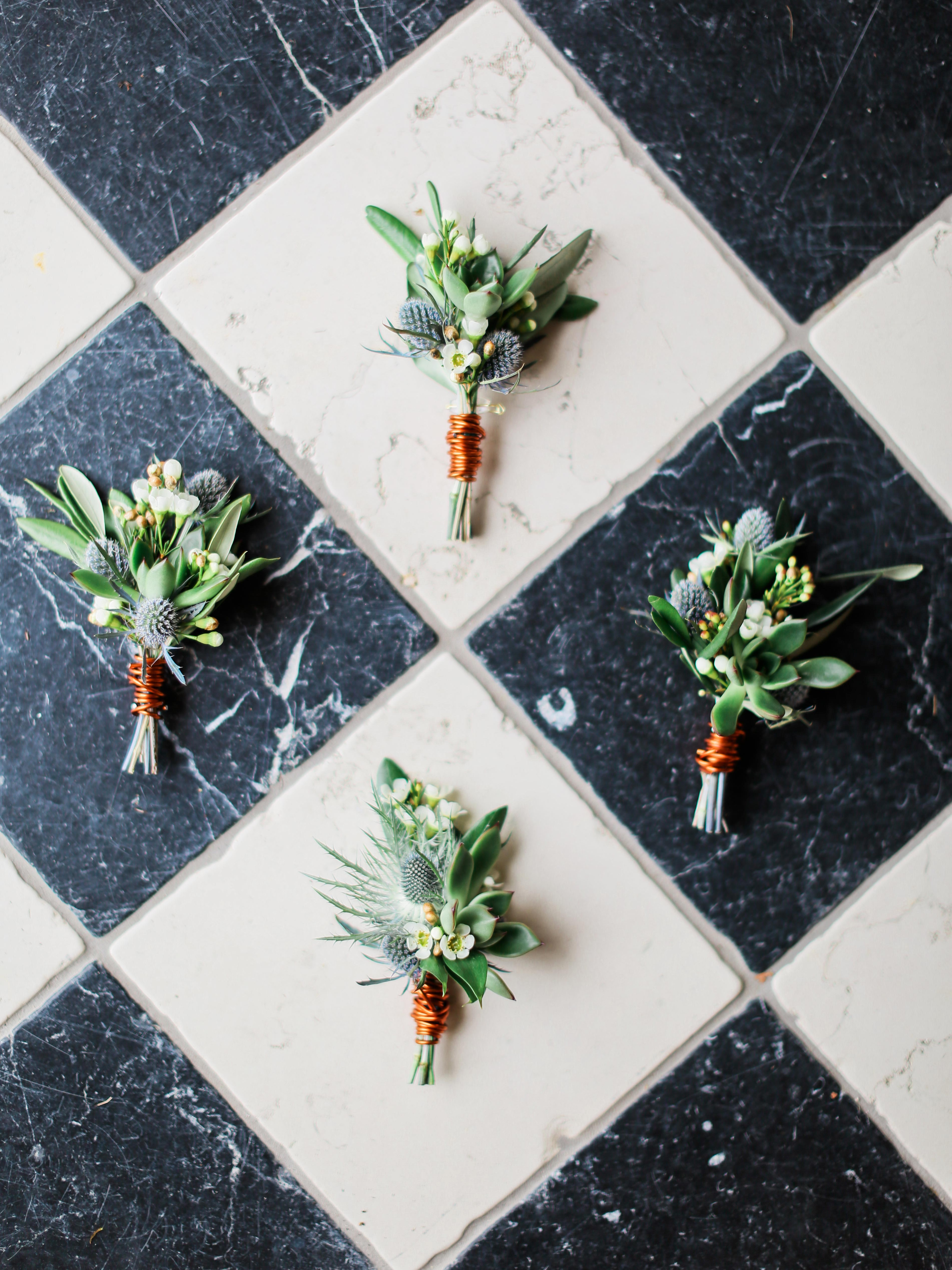 boutonnieres on tile