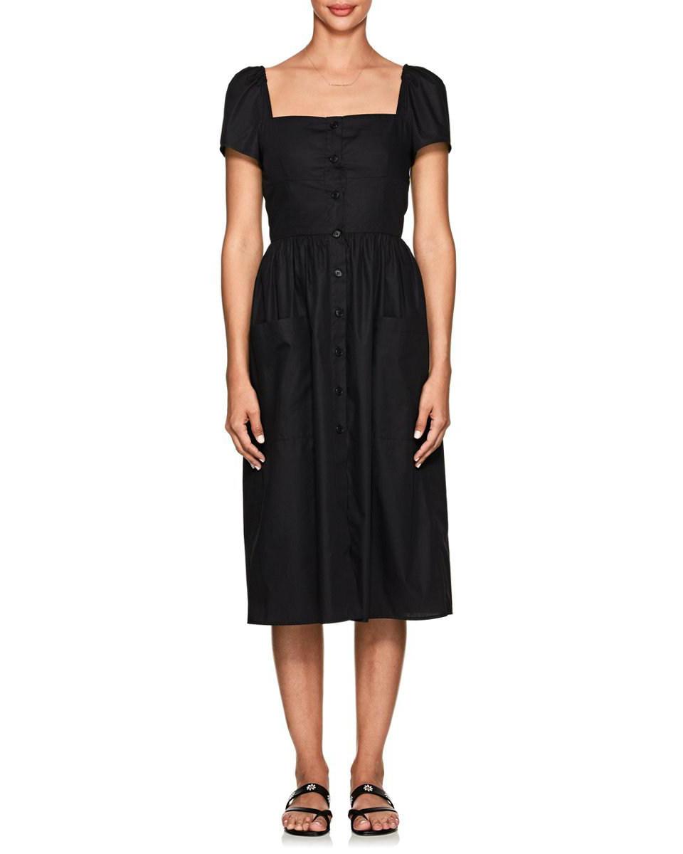 Barneys New York Cotton Poplin Midi Dress