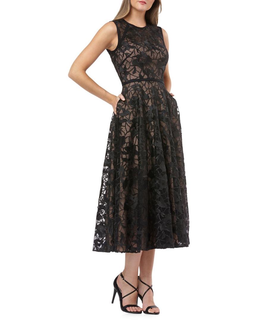 Carmen Marc Volvo Infusion Sleeveless Lace Midi Dress