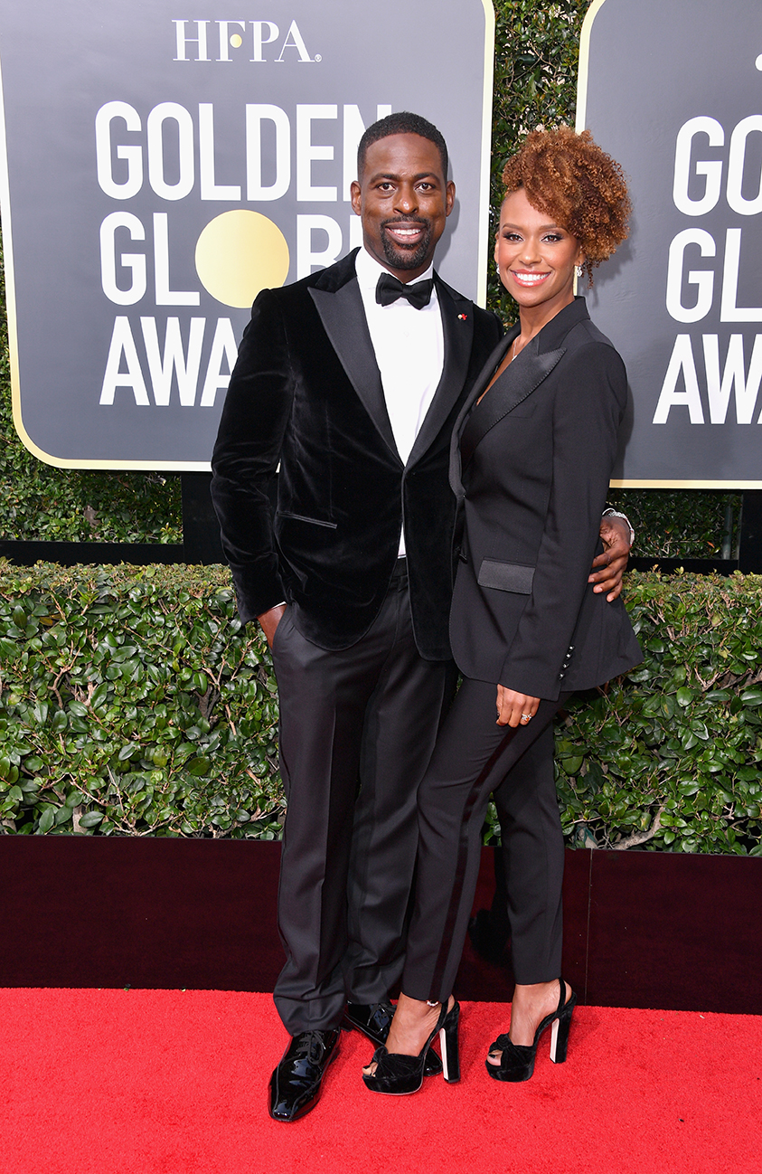 Sterling K Brown and Ryan Michelle Bathe 2018 Golden Globes