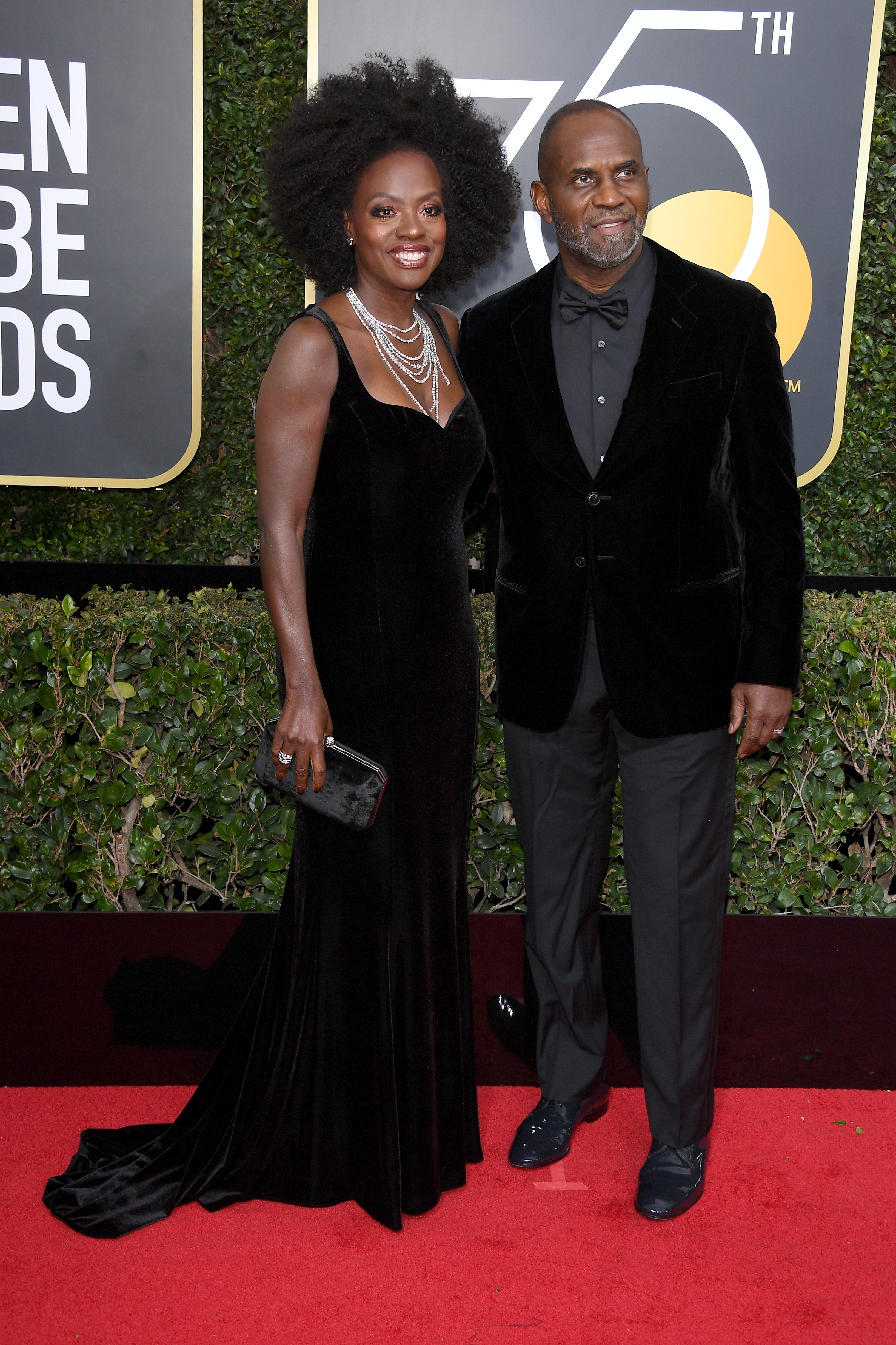 Viola Davis and Julius Tennon 2018 Golden Globes