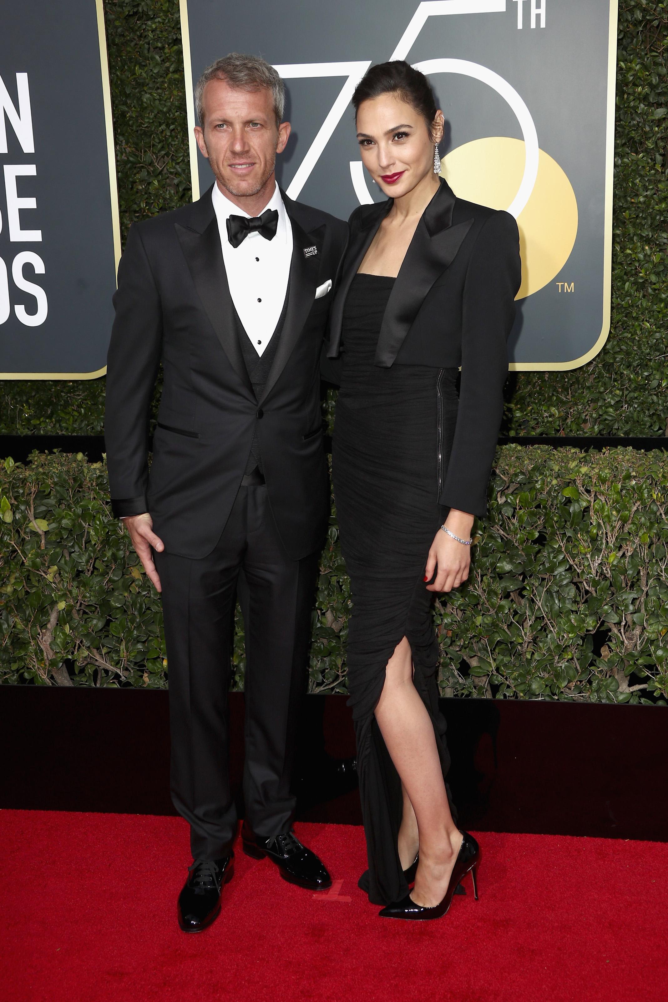 Gal Gadot and Yaron Versano 2018 Golden Globes