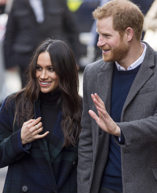 Meghan Markle and Prince Harry Walking in Edinburgh