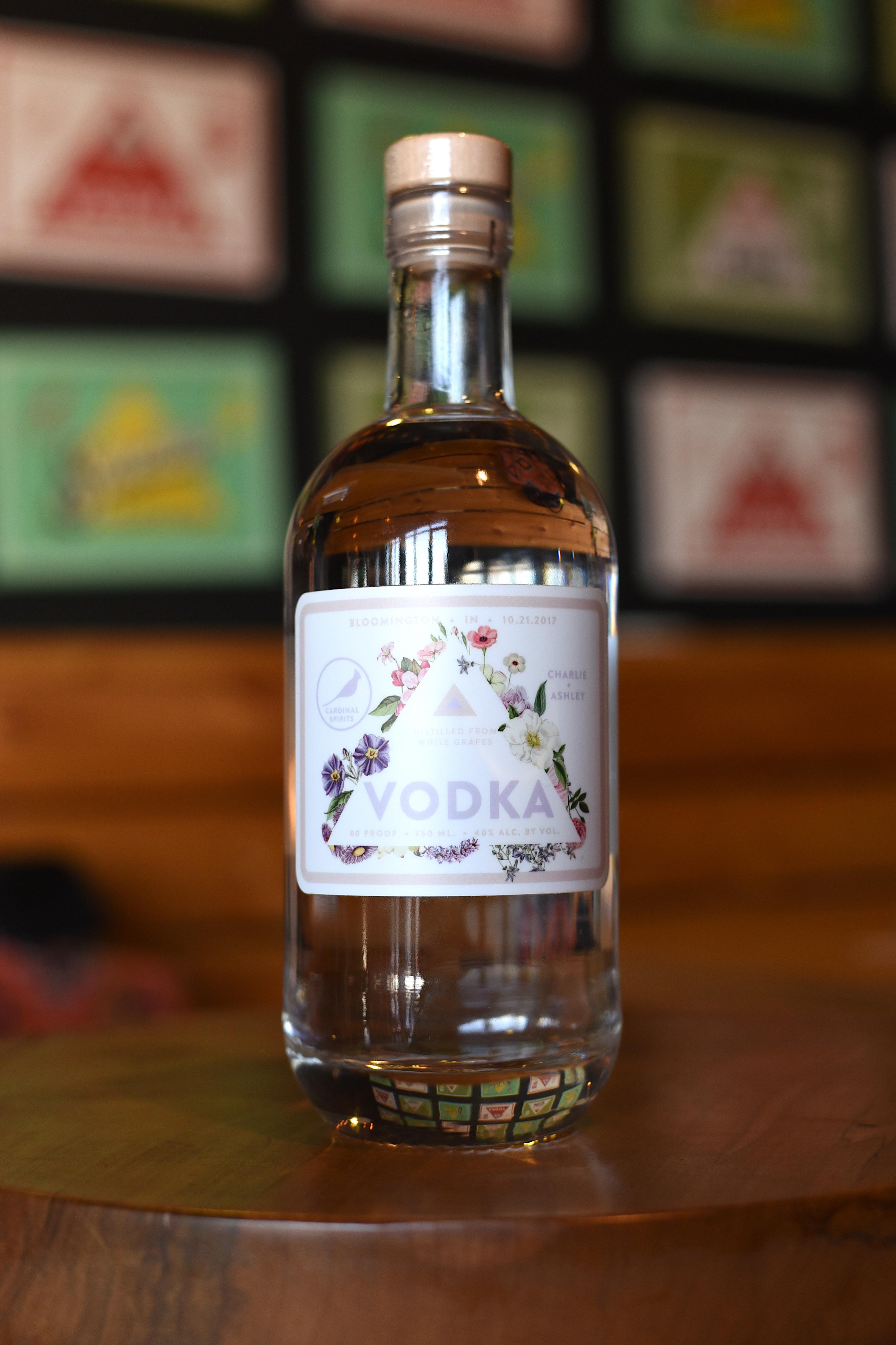 mini vodka bottle