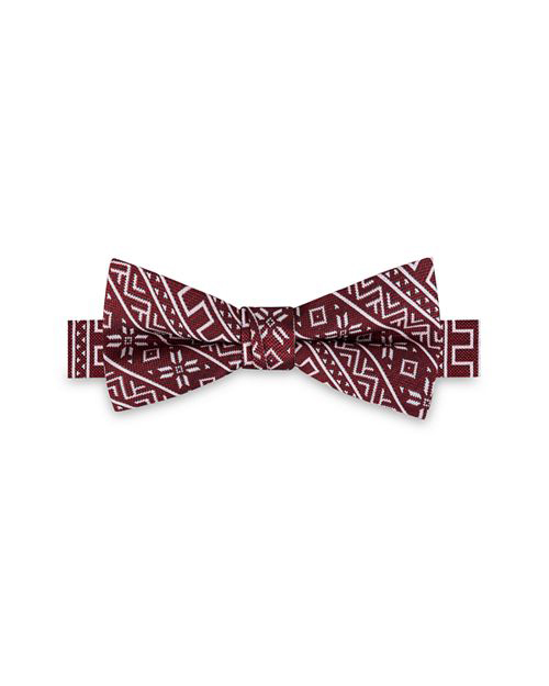 ring bearer red pattern bow tie