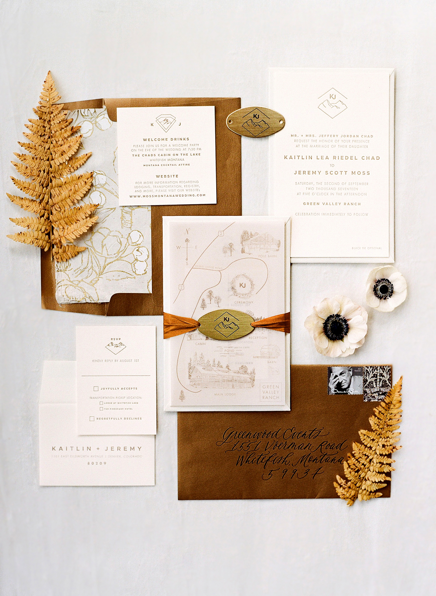 kaitlin jeremy wedding invitation