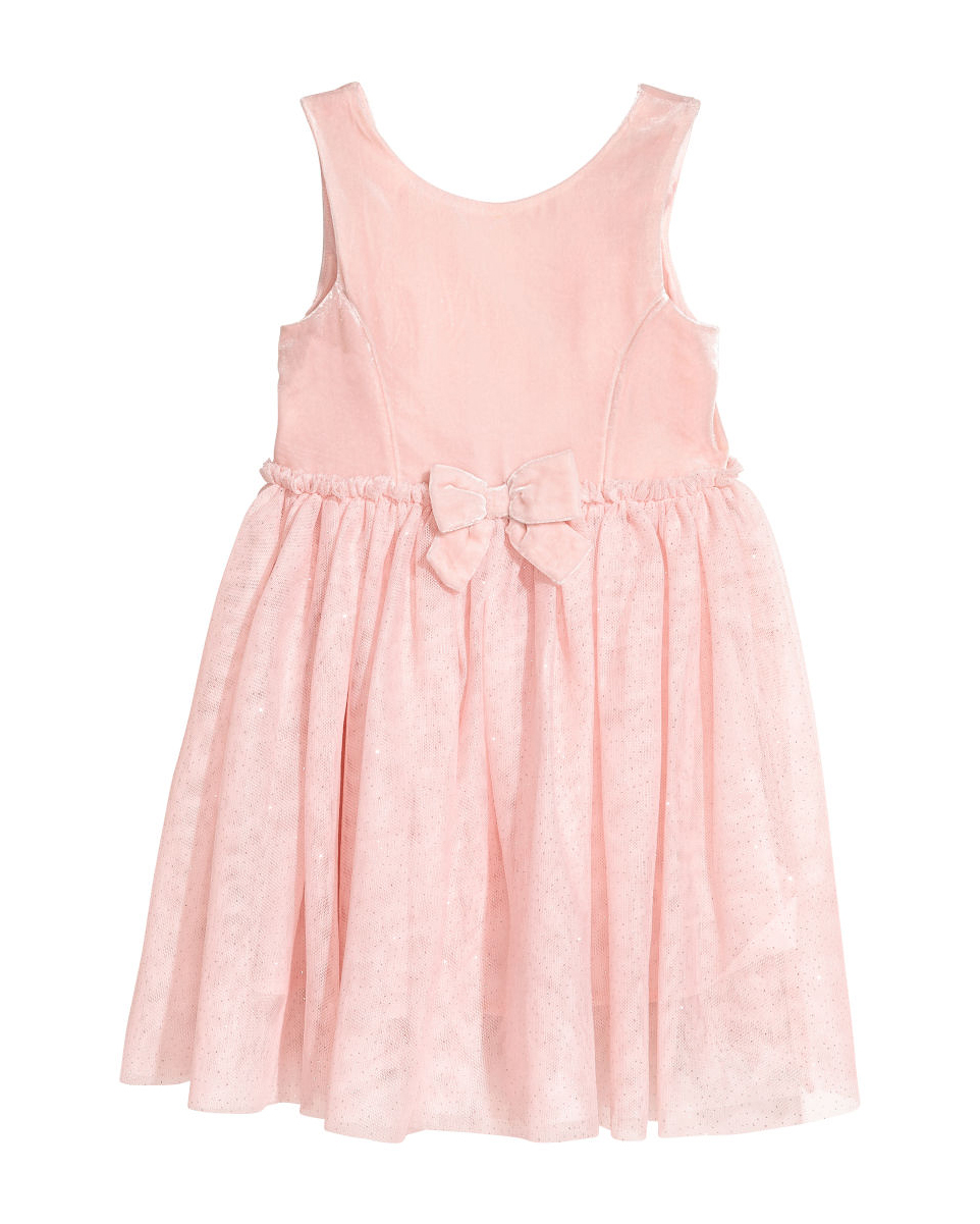 pink flower girl dress bow