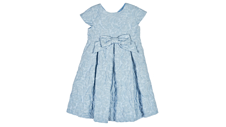Florence Eiseman Blue Floral Jacquard Dress