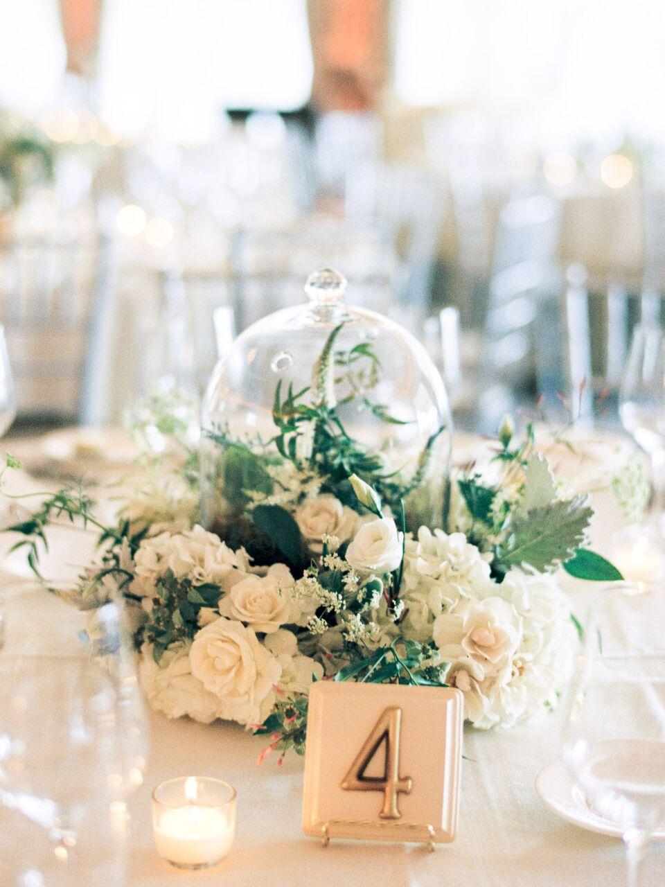cloche wedding centerpiece
