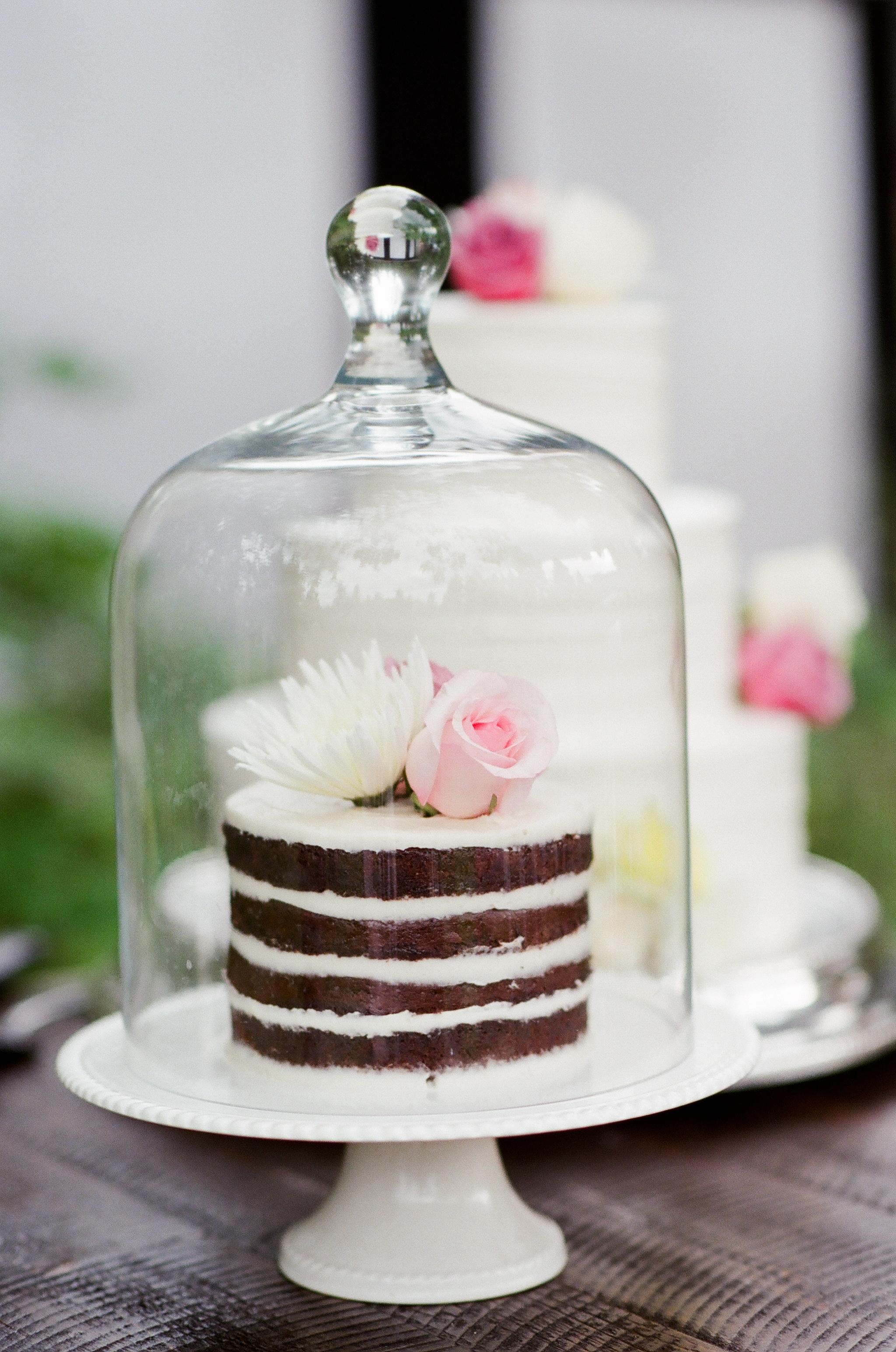 cloche wedding cake